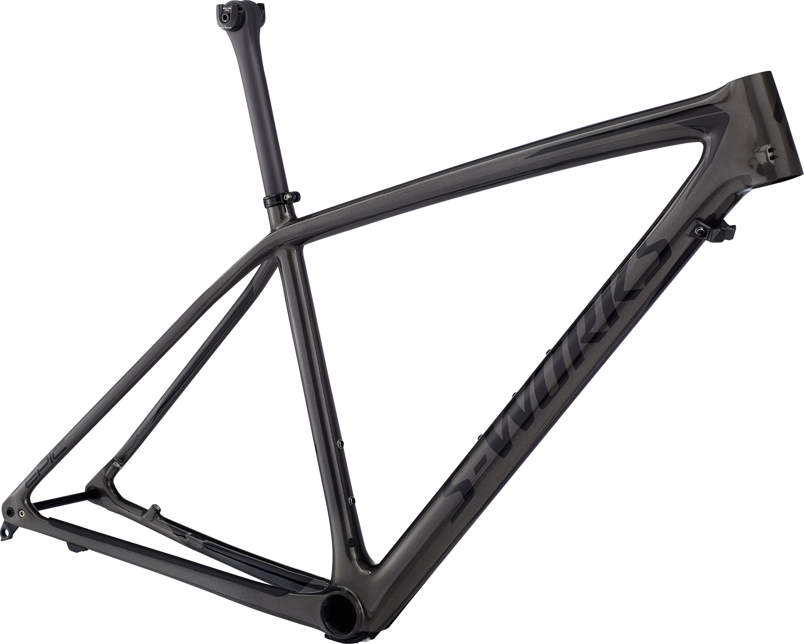 Specialized Men´s S-Works Epic Hardtail Frame GLOSS CHARCOAL TINT CARBON / BLACK L - Bike Zone