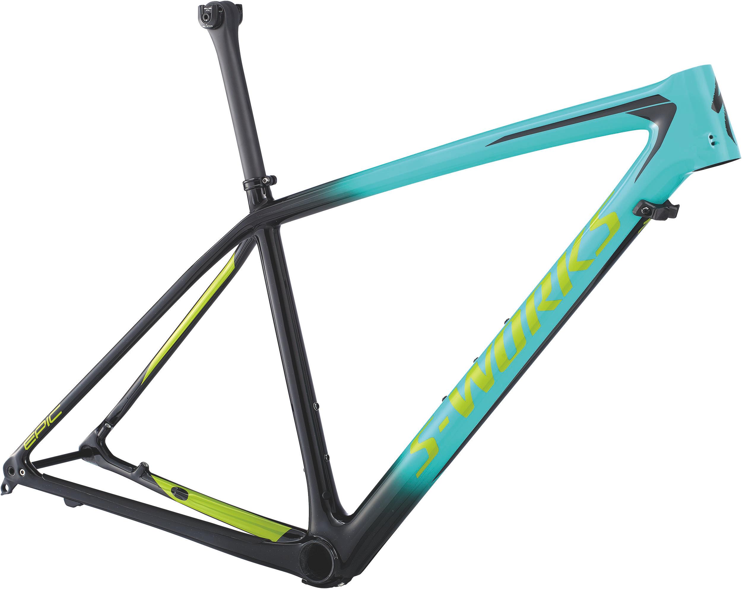Specialized Men´s S-Works Epic Hardtail Frame GLOSS ACID MINT / COSMIC BLACK / HYPER GREEN L - Bike Zone