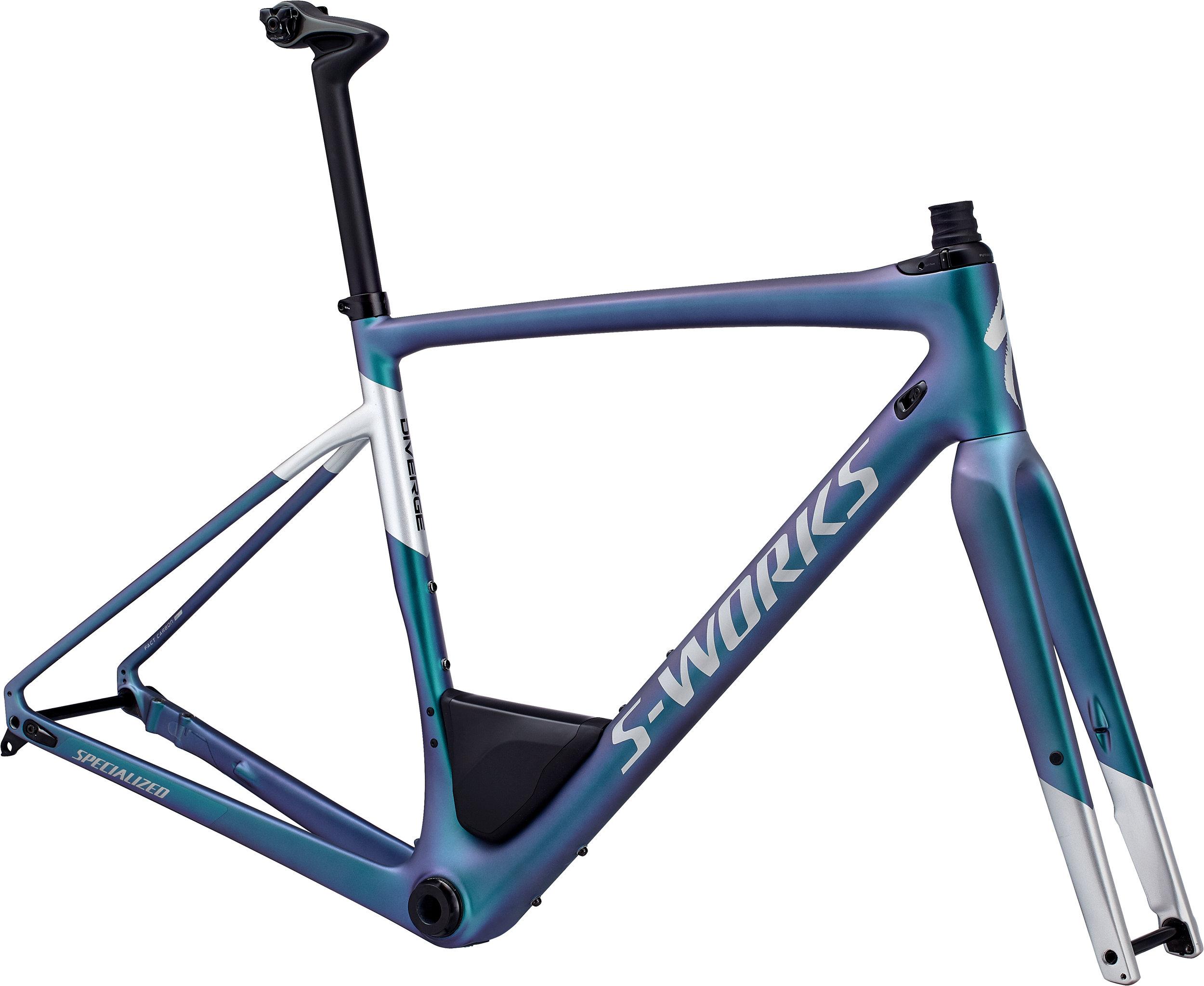 Specialized Men´s S-Works Diverge Frameset Satin Gloss Oil/ Gloss Light Silver 56 - Alpha Bikes