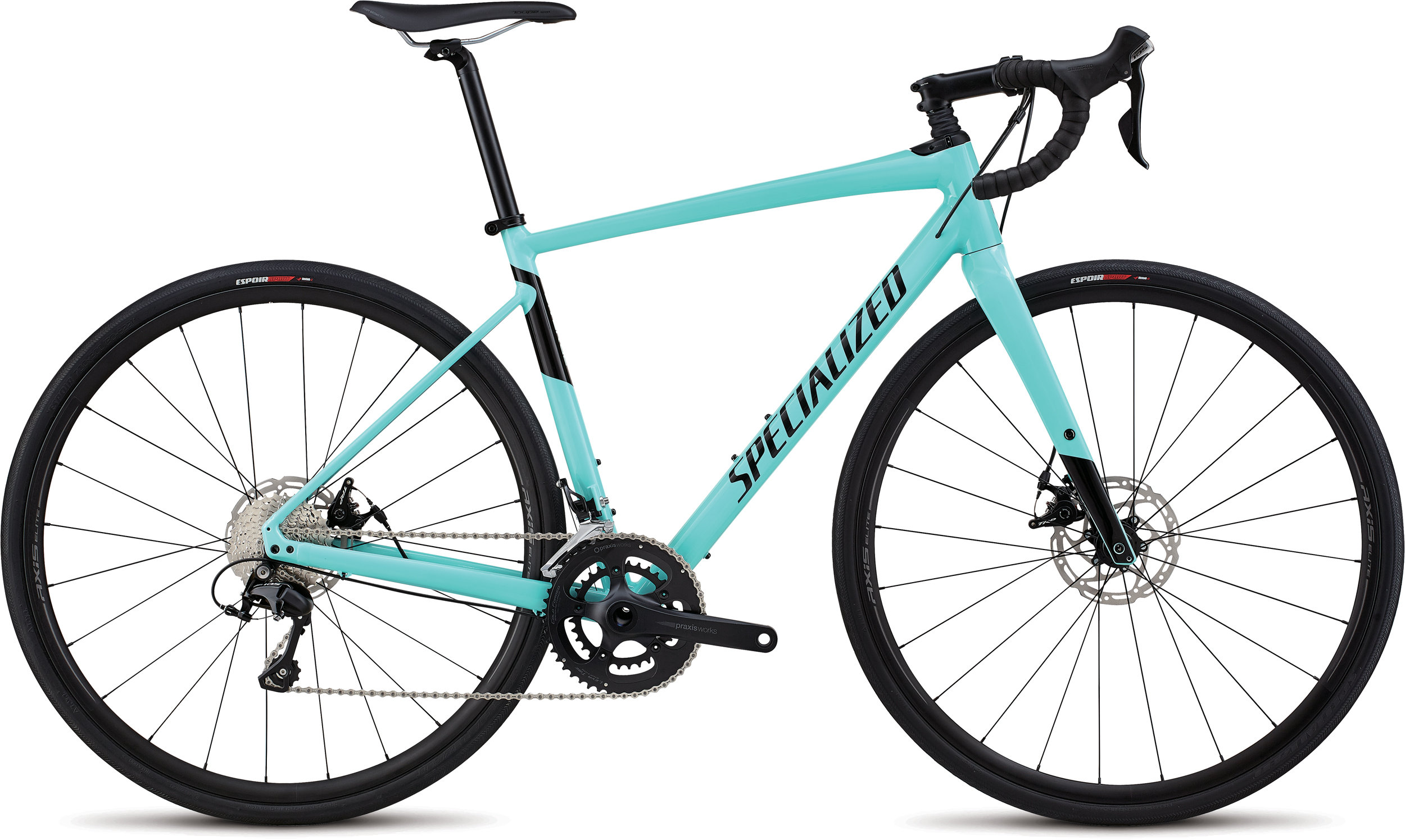 Specialized Men´s Diverge Comp E5 Gloss Light Turquoise/Tarmac Black 48 - Randen Bike GmbH