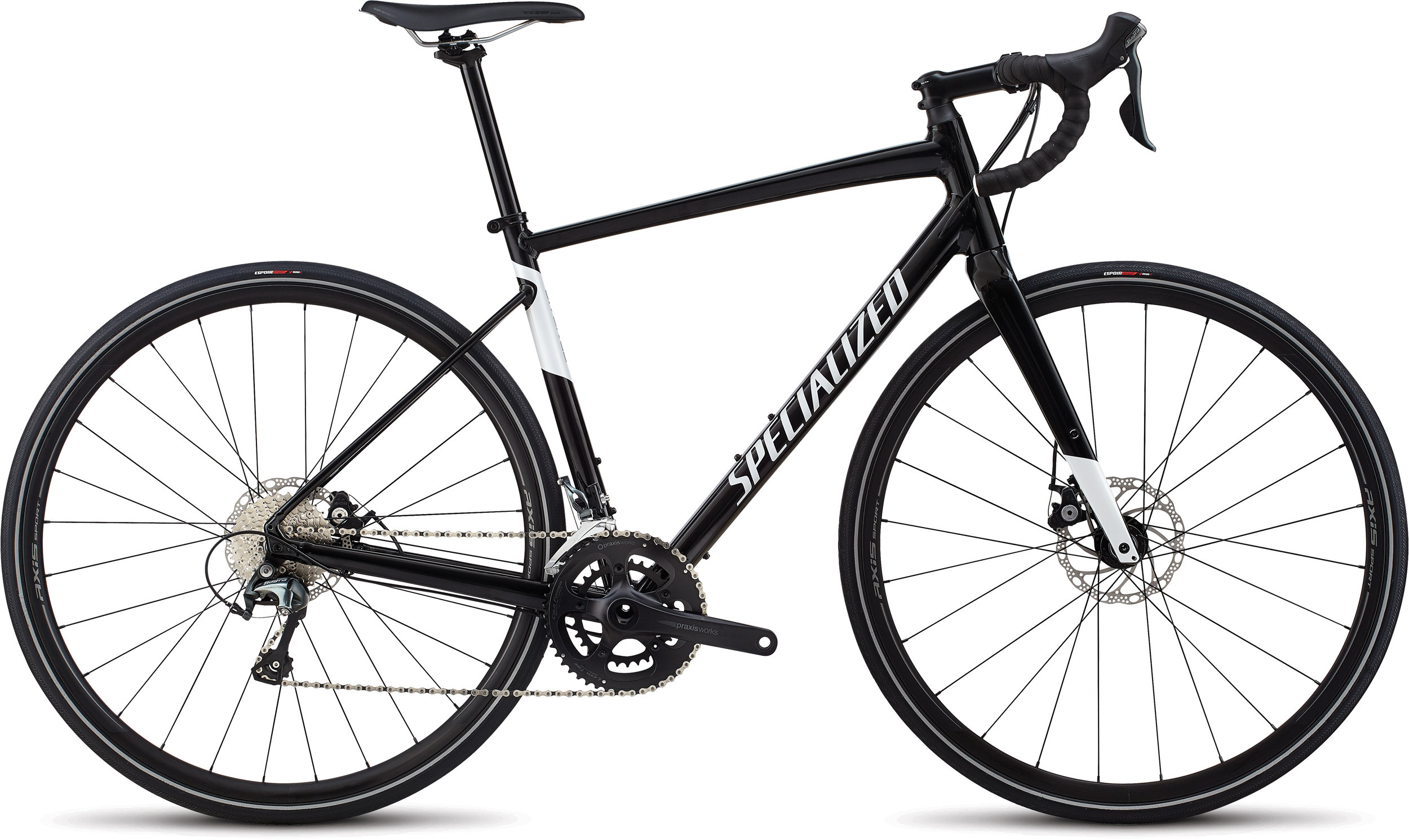 Specialized Men´s Diverge E5 Elite Gloss Tarmac Black/Metallic White Silver 48 - Bartz Bikesystem & Velodepot