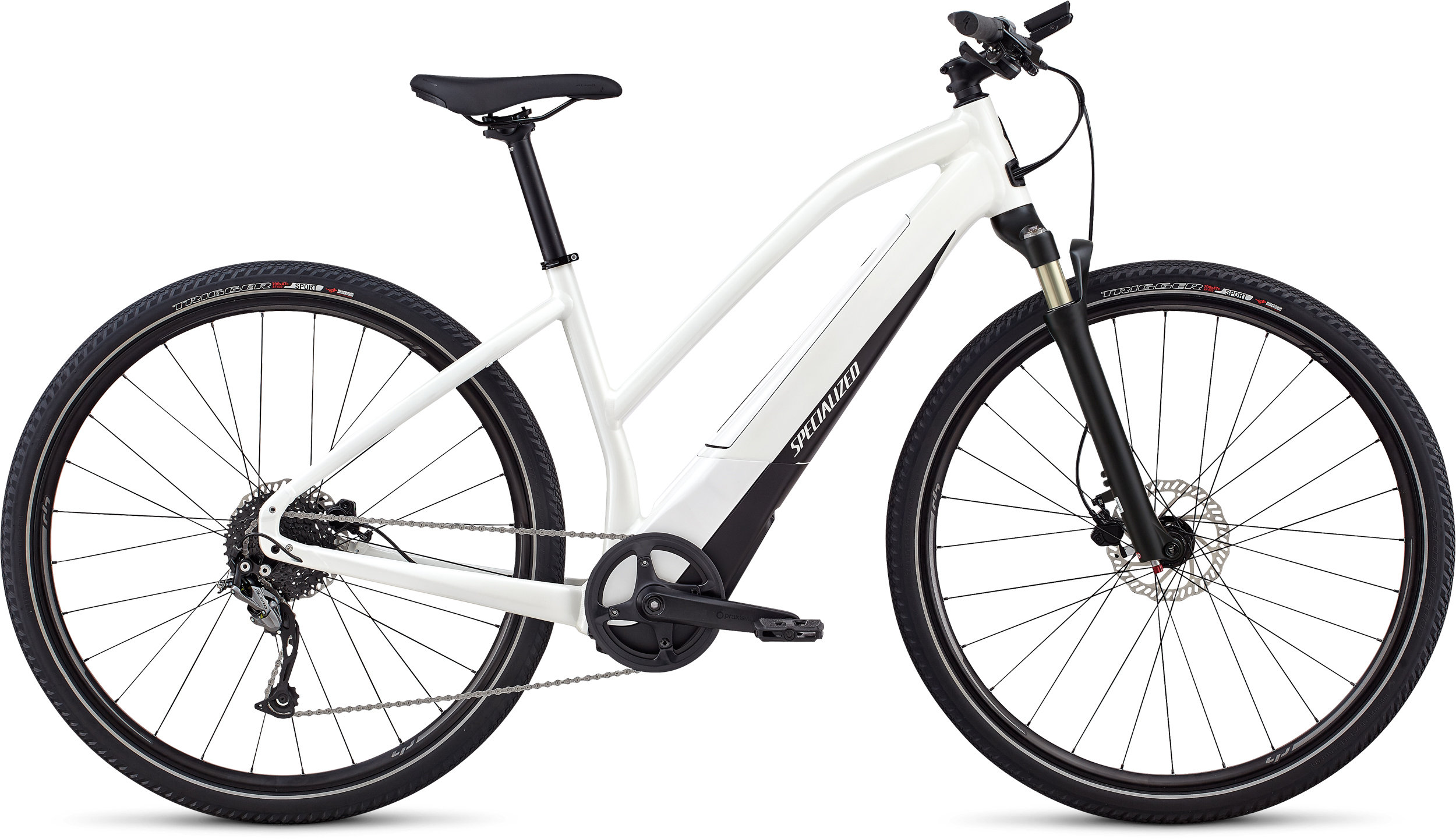 Specialized Women´s Turbo Vado 2.0 Satin Metallic White Silver / Black LG - Randen Bike GmbH