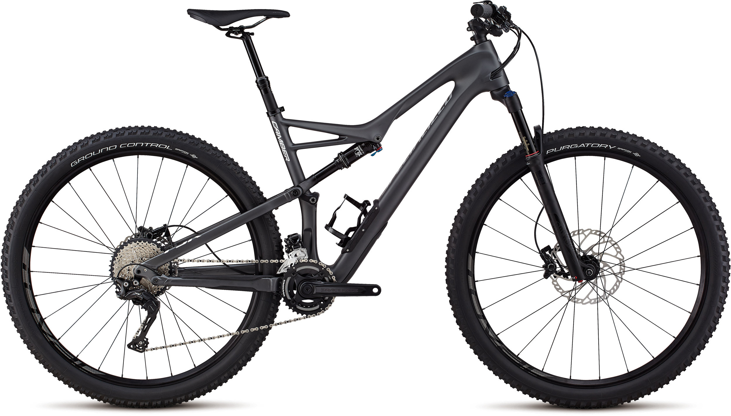 Specialized Men´s Camber Comp Carbon 29 - 2x SATIN GRAPHITE / FLAKE SILVER CLEAN L - Alpha Bikes