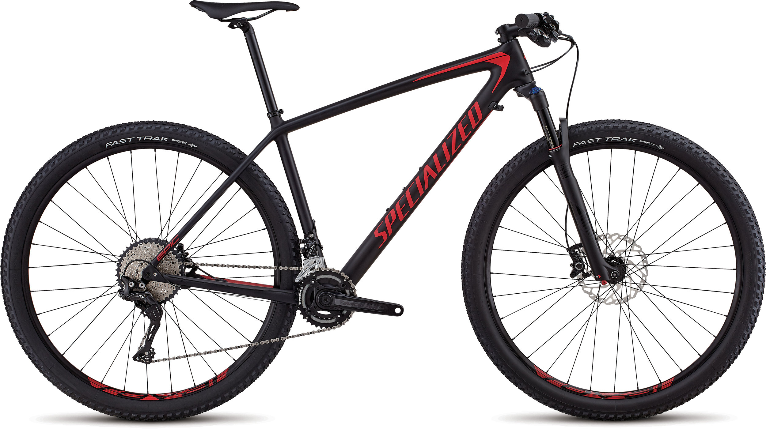 Specialized Men´s Epic Hardtail Comp - 2x SATIN BLACK / FLO RED L - Bike Zone