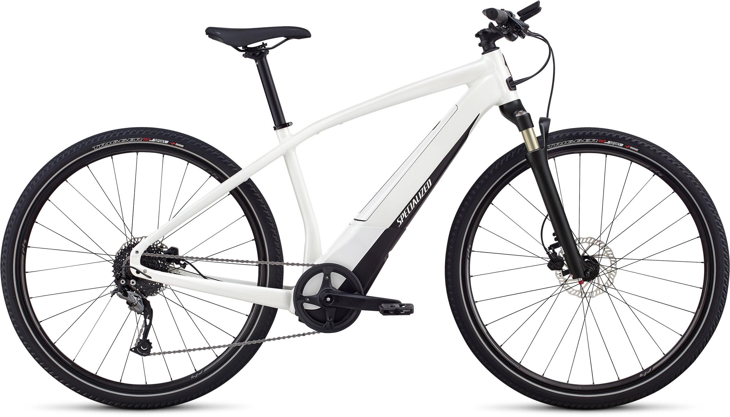 Specialized Men´s Turbo Vado 2.0 Satin Metallic White Silver / Black LG - Alpha Bikes