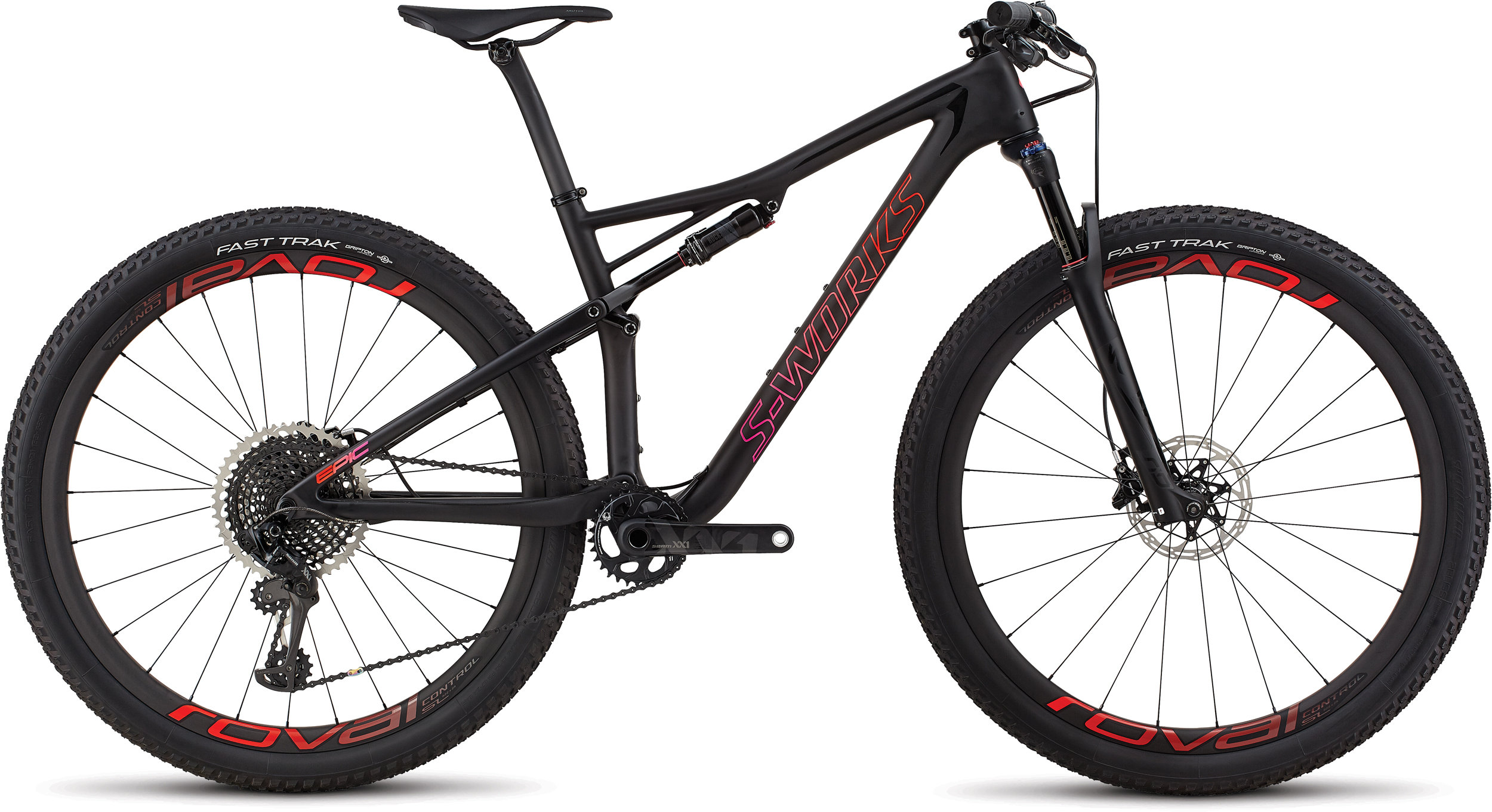 Specialized Women´s S-Works Epic Satin Gloss Blk Tint/Rocket Red Acid Purple Fade M - Alpha Bikes
