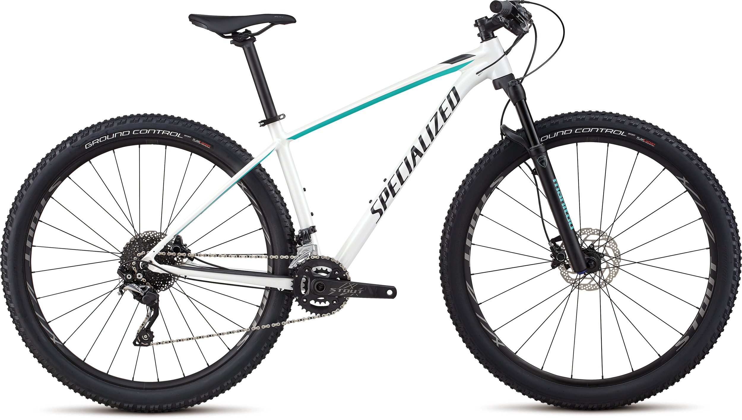 Specialized Women´s Rockhopper Pro GLOSS SATIN METALLIC WHITE SILVER / ACID MINT / BLACK L - Pulsschlag Bike+Sport
