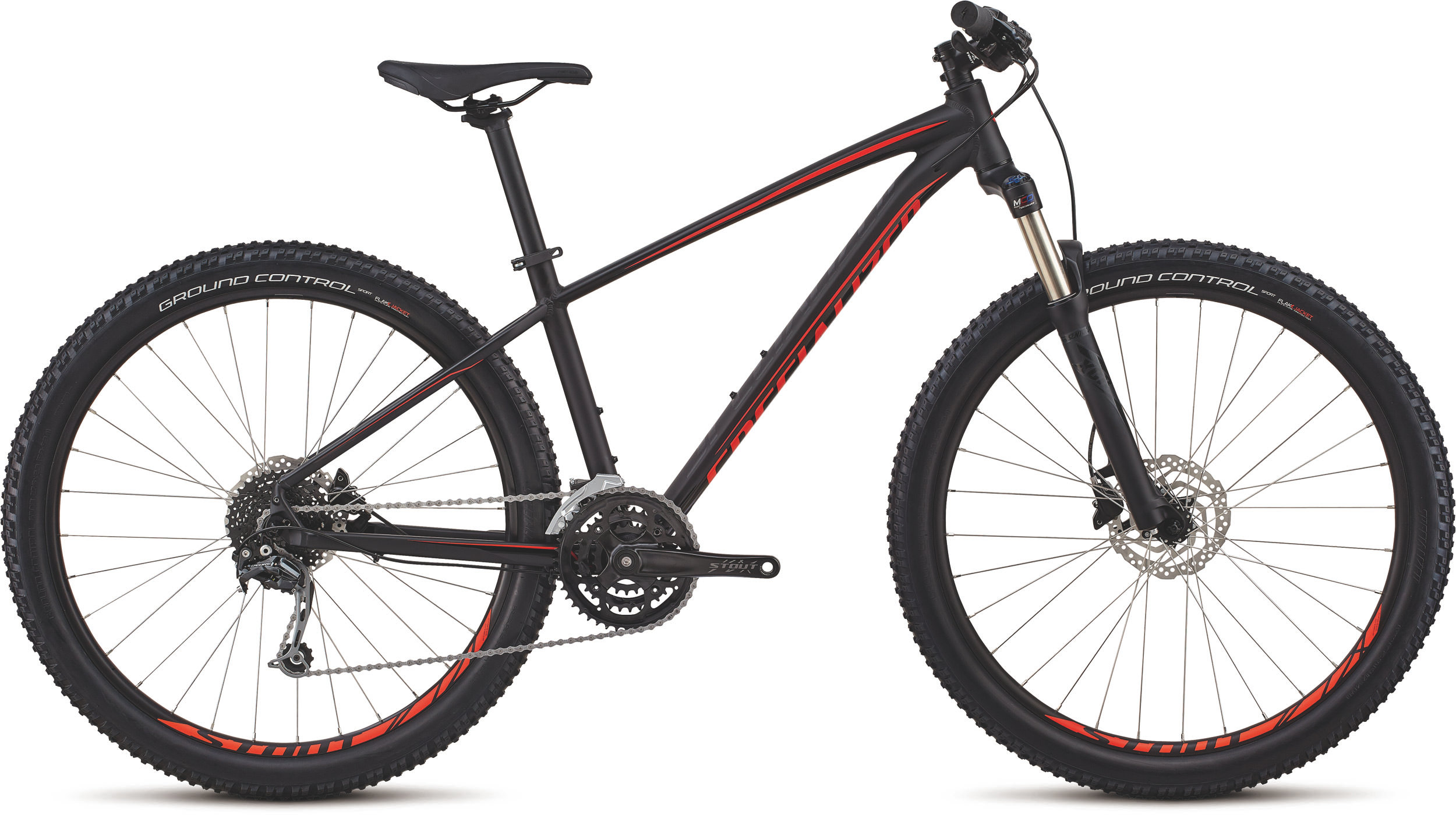 Specialized Men´s Pitch Expert 27.5 SATIN GLOSS CARBON / BLACK / ROCKET RED L - Pulsschlag Bike+Sport