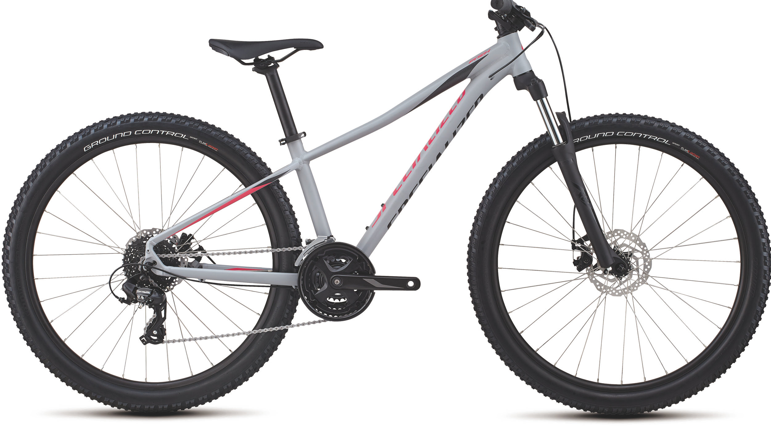 Specialized Women´s Pitch 27.5 Satin/Gloss/Cool Gray/Acid Pink/Black/Reflect XS - Bike Maniac