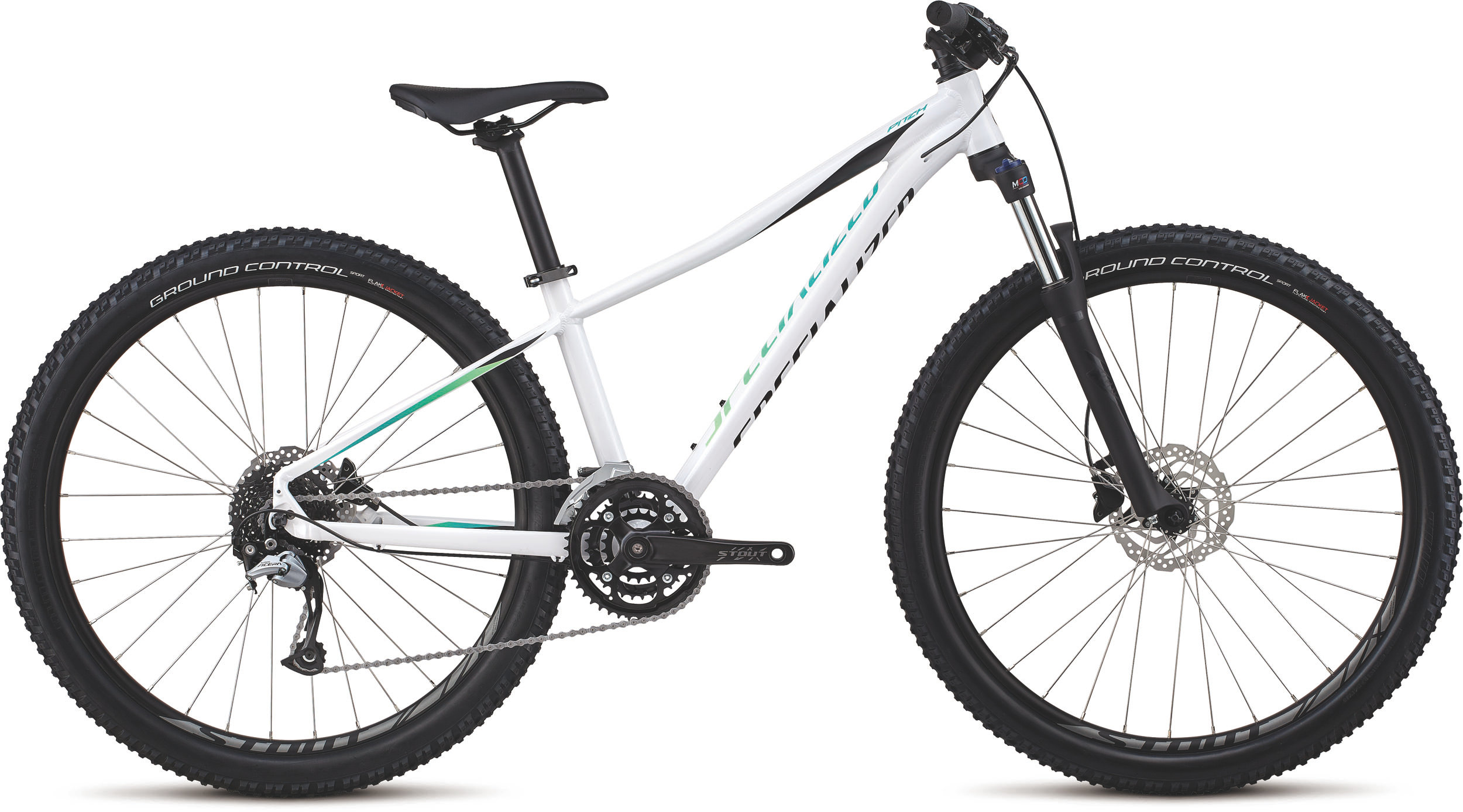 Specialized Women´s Pitch Comp 27.5 Gloss/Satin/White/Cali Fade Decals /Blk XS - Bike Maniac