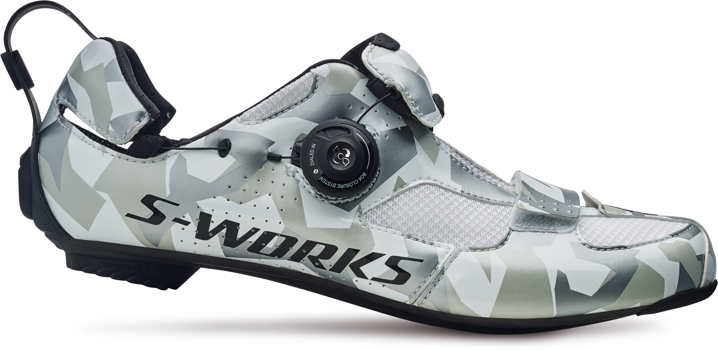 Specialized S-Works Trivent Triathlon Shoes White Camo 38 - Alpha Bikes
