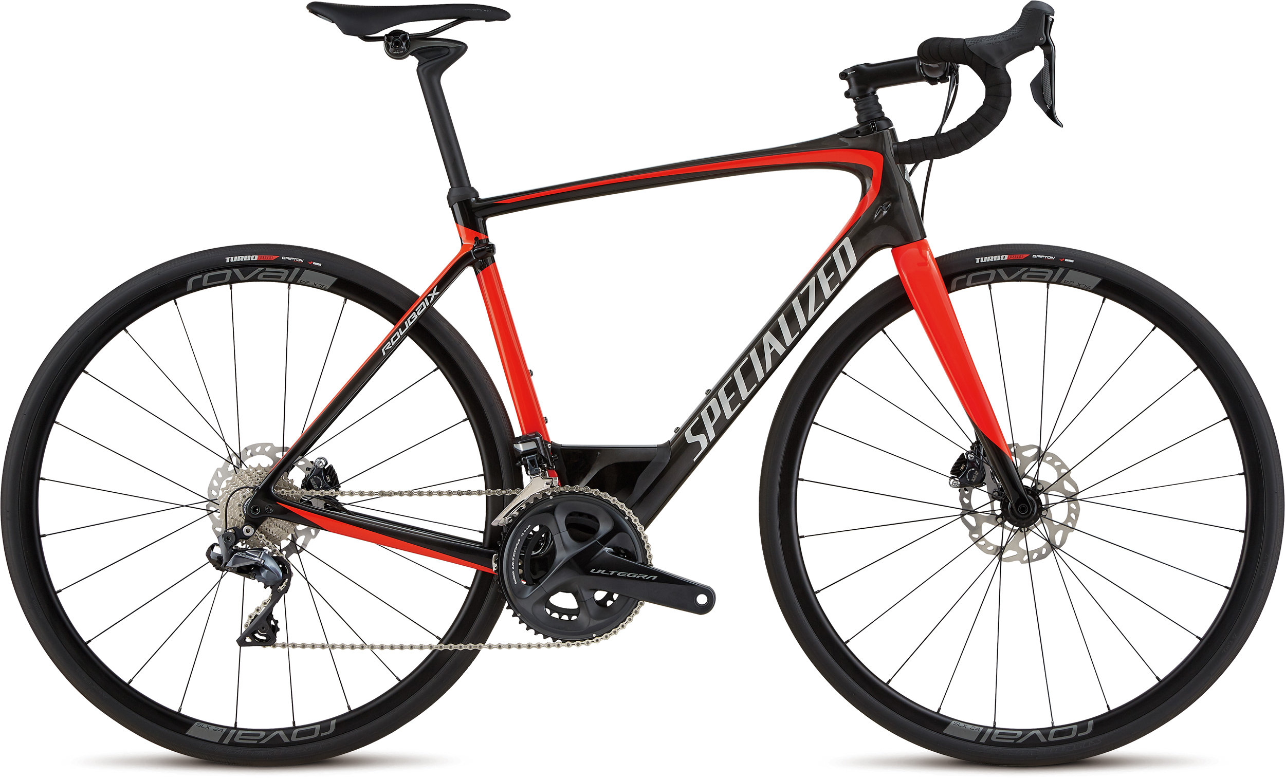 Specialized Roubaix Expert Ultegra Di2 Gloss Carbon / Rocket Red / Kool Silver 56 - Alpha Bikes