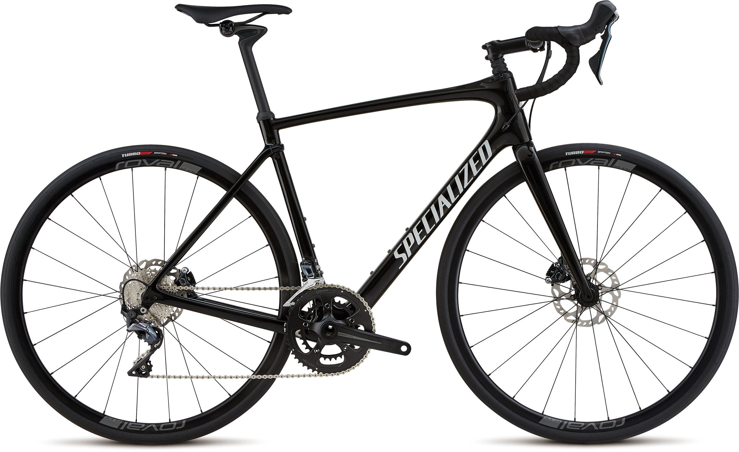 Specialized Roubaix Comp Gloss Tarmac Black / White Reflective / Clean 56 - Alpha Bikes