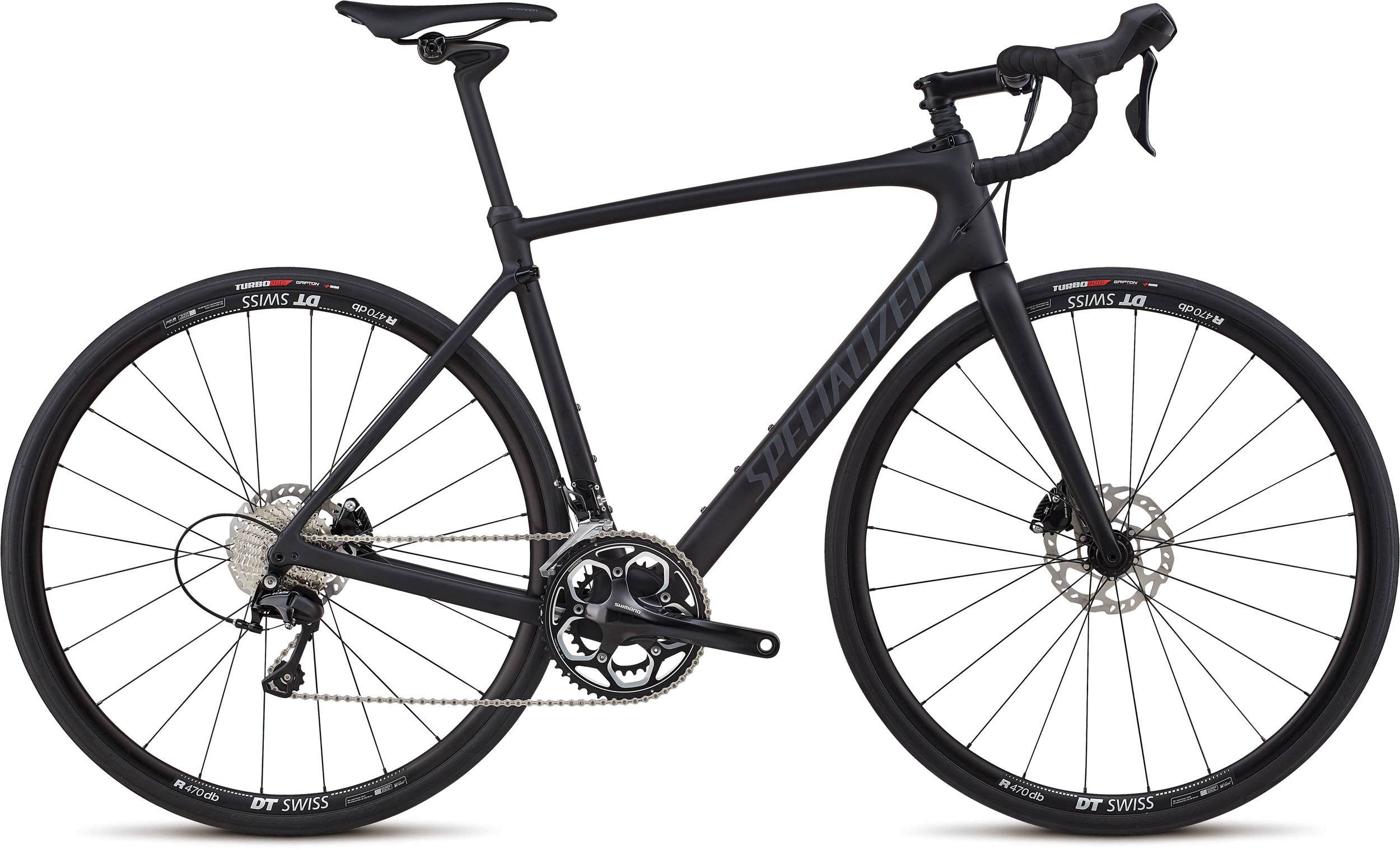 Specialized Roubaix Elite Satin Black / Gloss Black / Black Ref/Clean 56 - Alpha Bikes