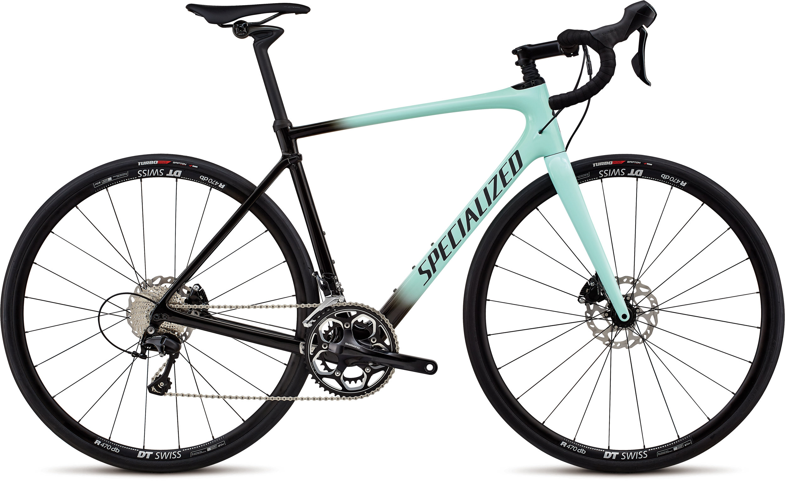 Specialized Roubaix Elite Gloss Mint/Tarmac Blk Fade/Blk Ref/Clean 56 - Alpha Bikes