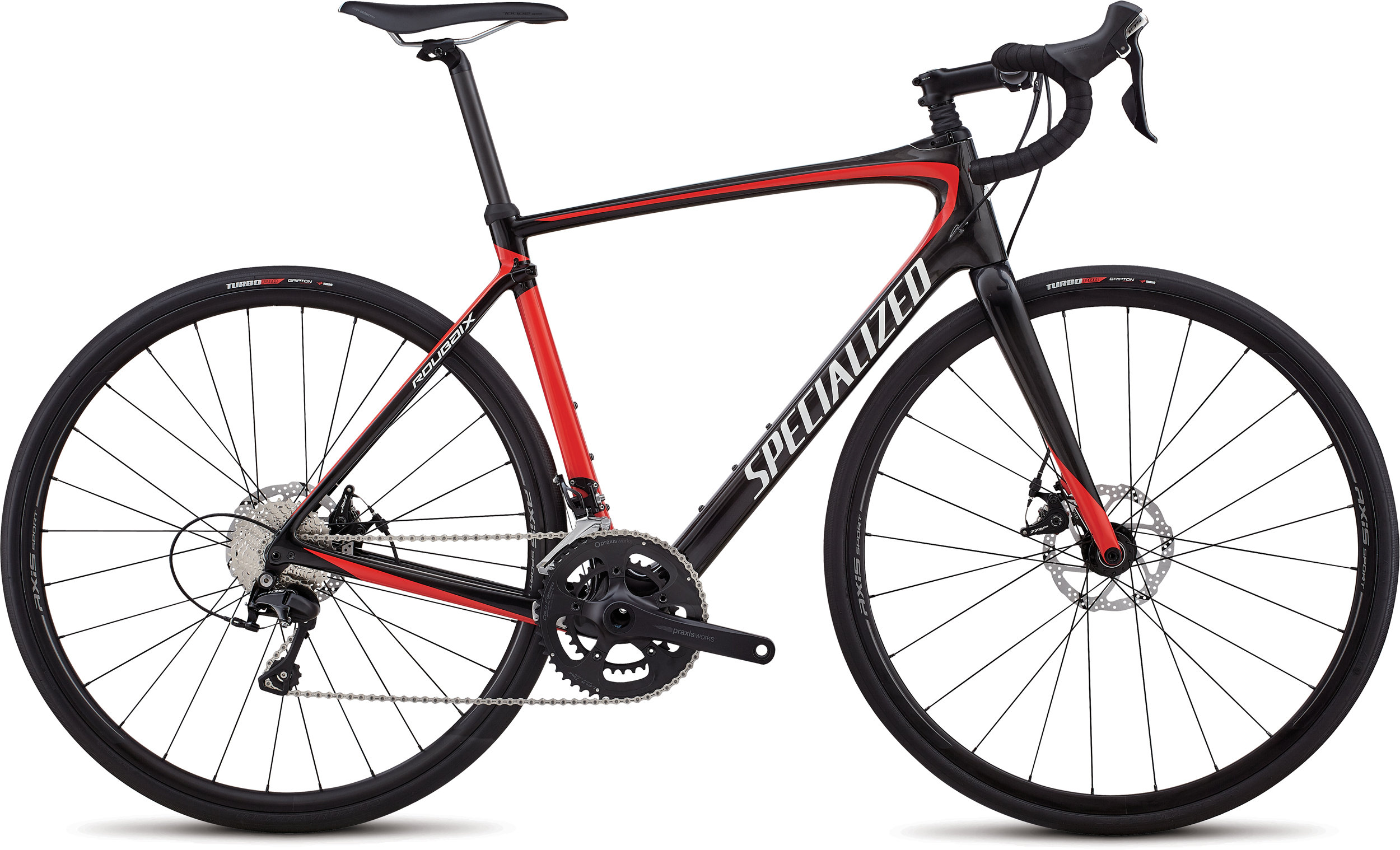 Specialized Roubaix Sport Gloss Carbon / Nordic Red / Metallic White 56 - Alpha Bikes