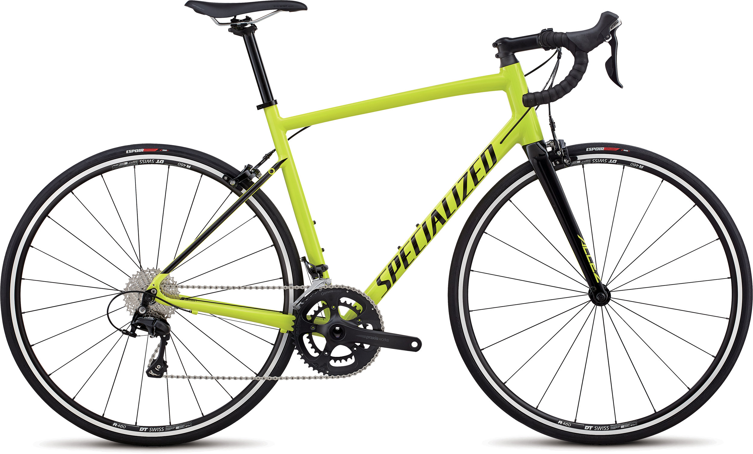 Specialized Allez Elite Gloss Team Yellow / Tarmac Black 56 - Alpha Bikes