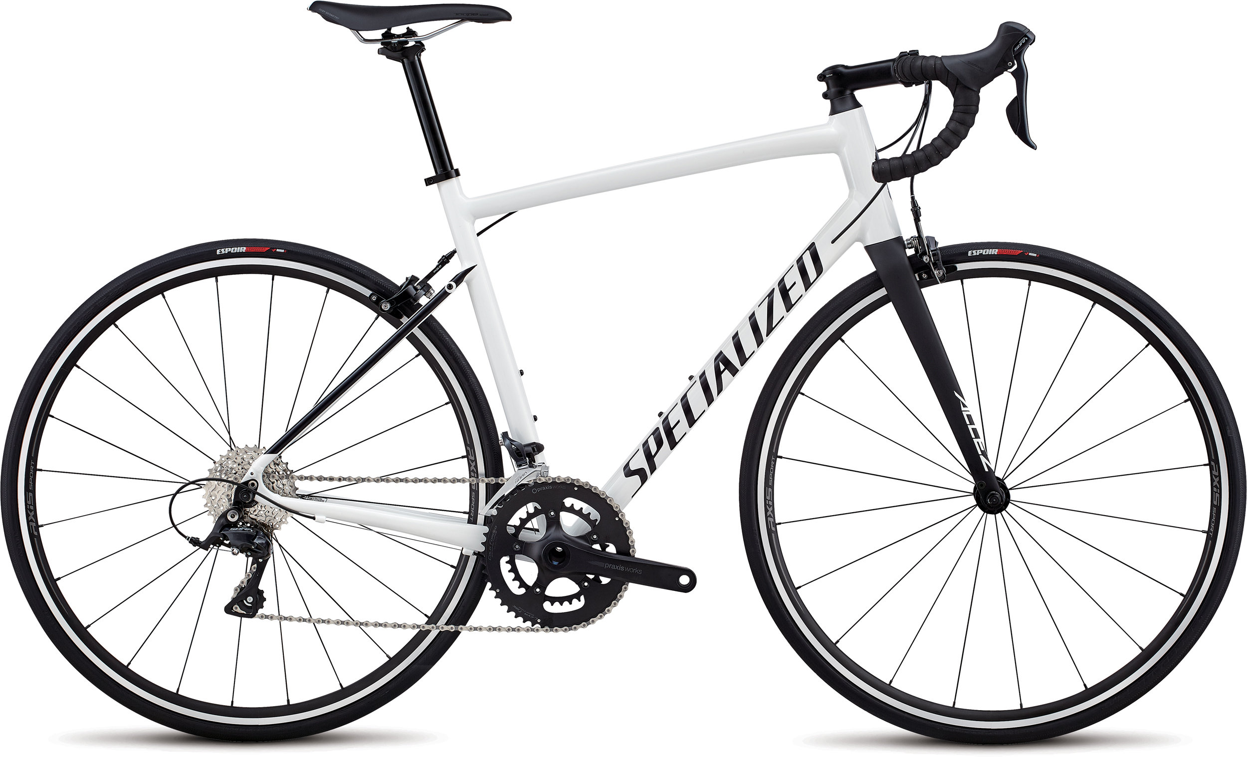 Specialized Allez Sport Gloss Cosmic White / Satin Black 56 - Alpha Bikes