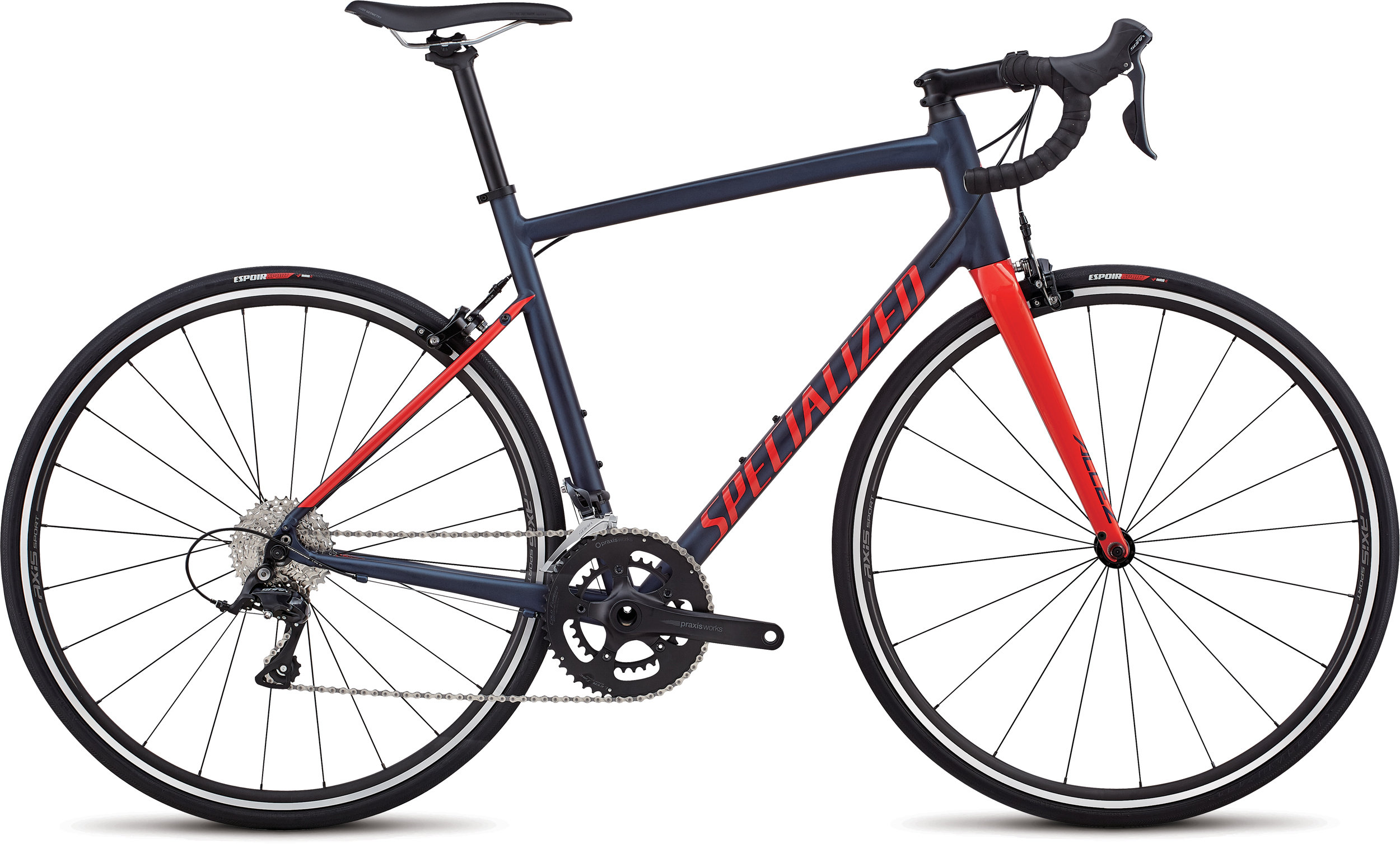 Specialized Allez Sport Satin Navy / Gloss Nordic Red 56 - Alpha Bikes