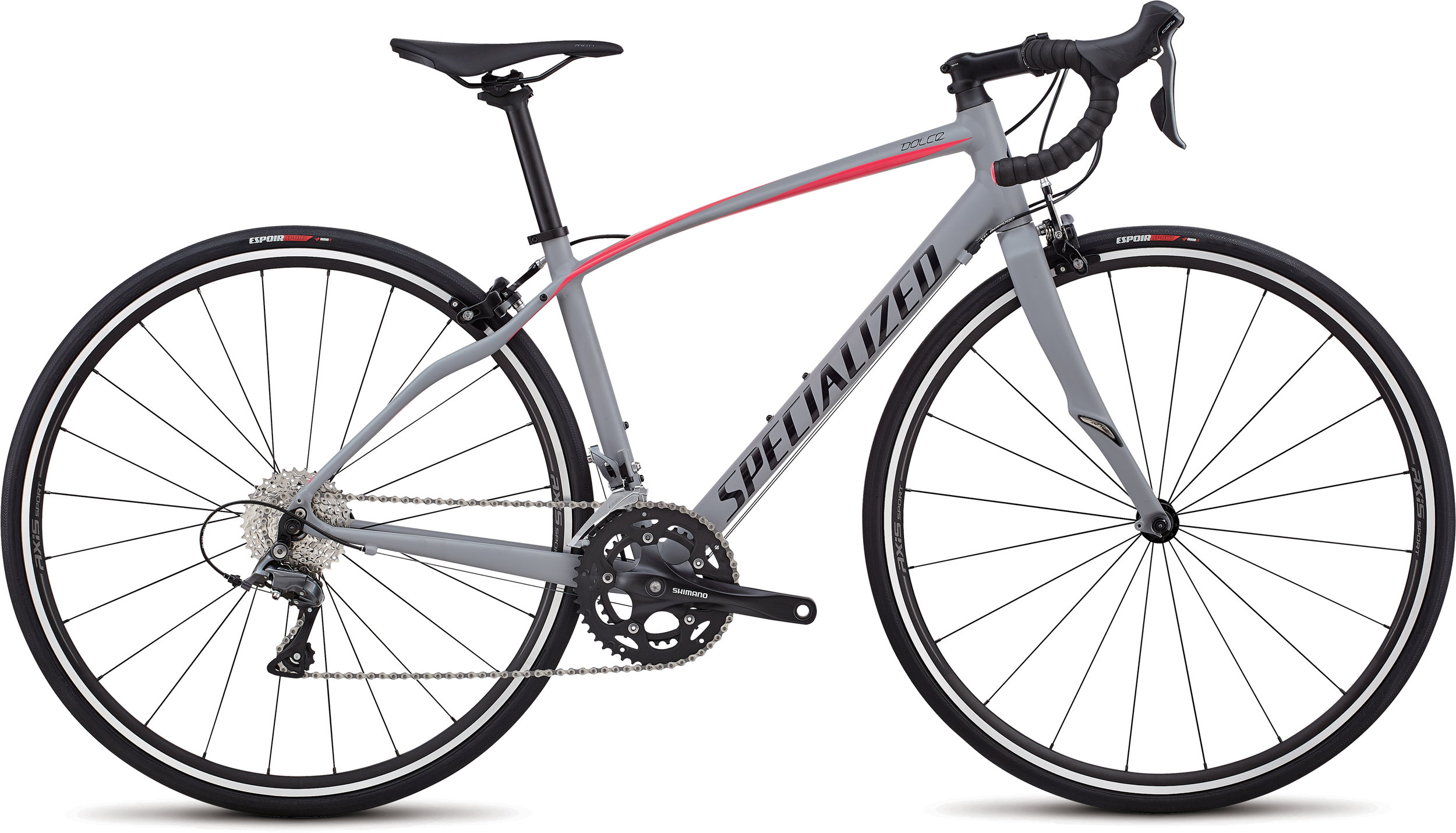 Specialized Dolce Satin / Gloss / Cool Gray / Acid Pink 51 - Alpha Bikes