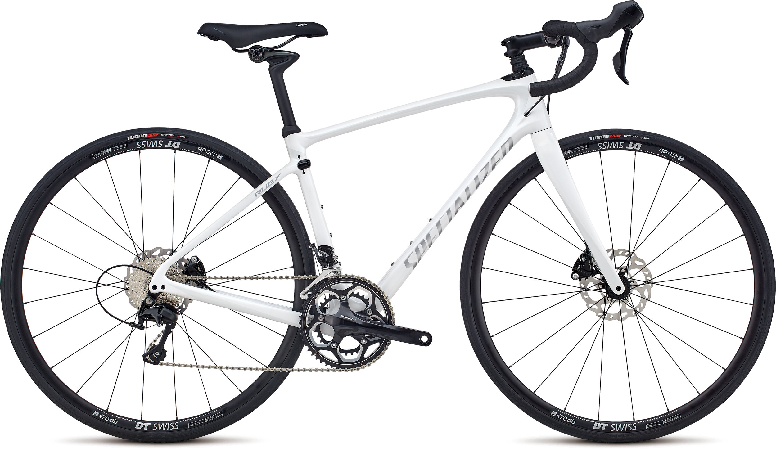 Specialized Ruby Elite Gloss / Cosmic Flake White   / Flake Silver 51 - Alpha Bikes