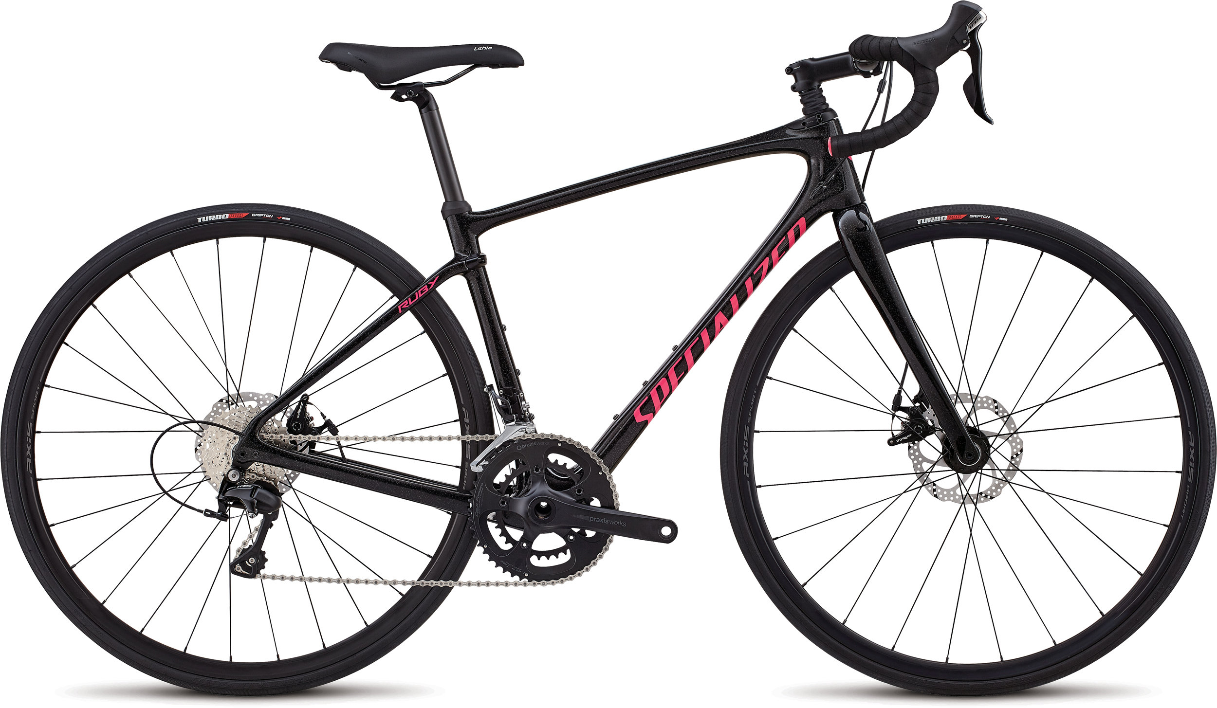 Specialized Ruby Sport Gloss /Cosmic Flake Blk /Slate/Acid Pink 51 - Alpha Bikes