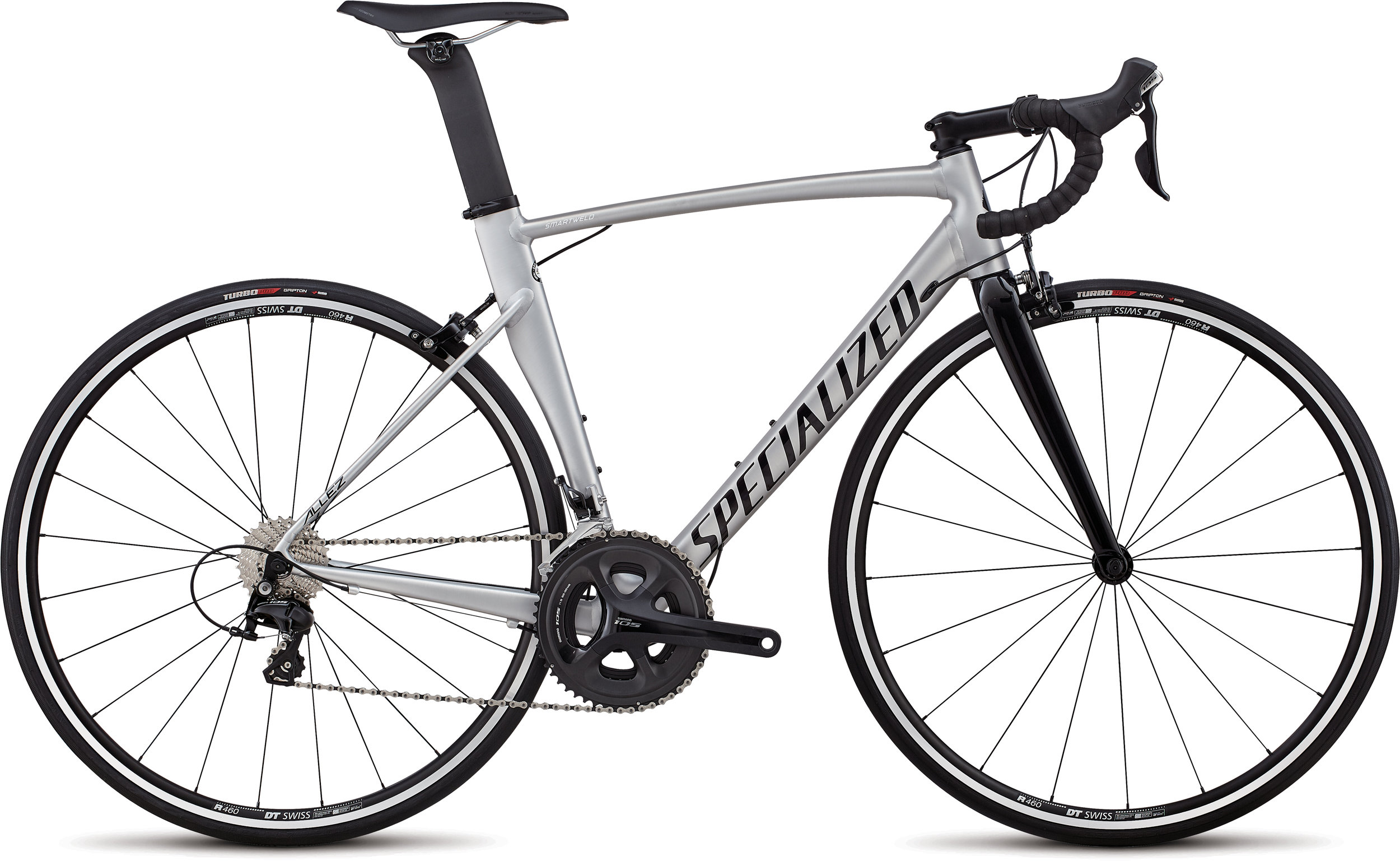 Specialized Allez Sprint Comp Satin Brushed  / Gloss Tarmac Black 56 - Alpha Bikes