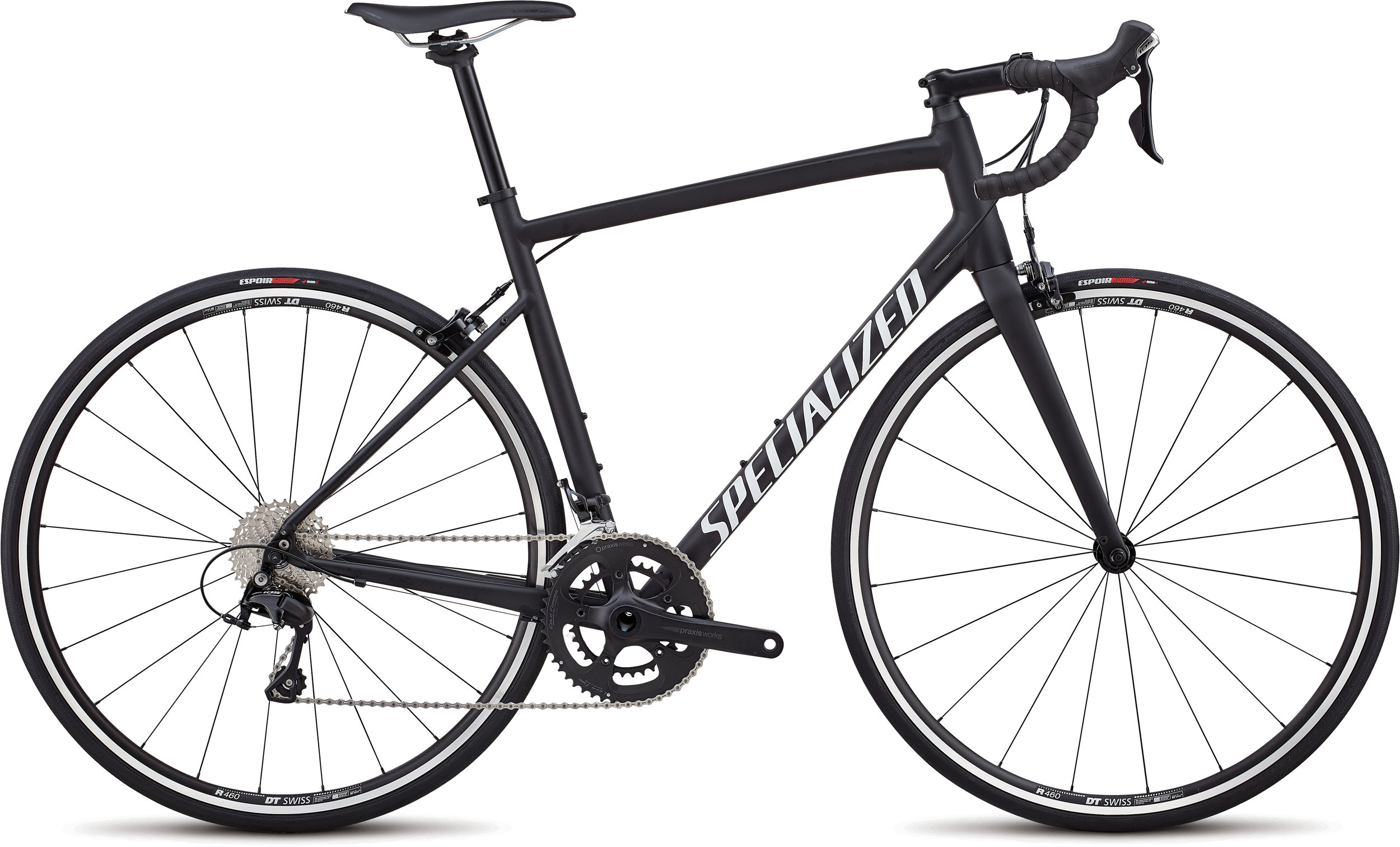 Specialized Allez Elite Satin Black / White / Clean 56 - Alpha Bikes