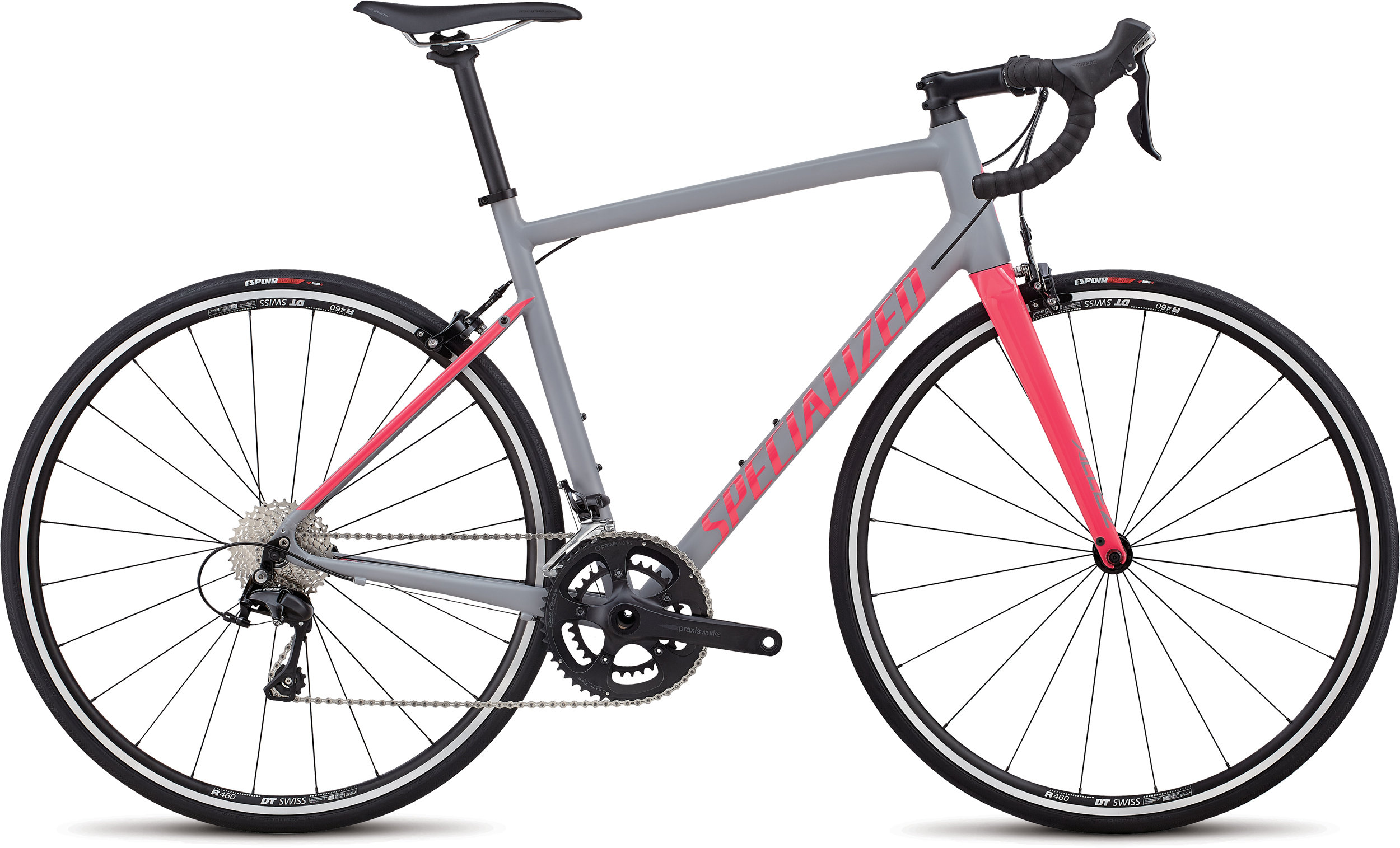 Specialized Allez Elite Satin Cool Gray  / Gloss Hot Pink 56 - Alpha Bikes