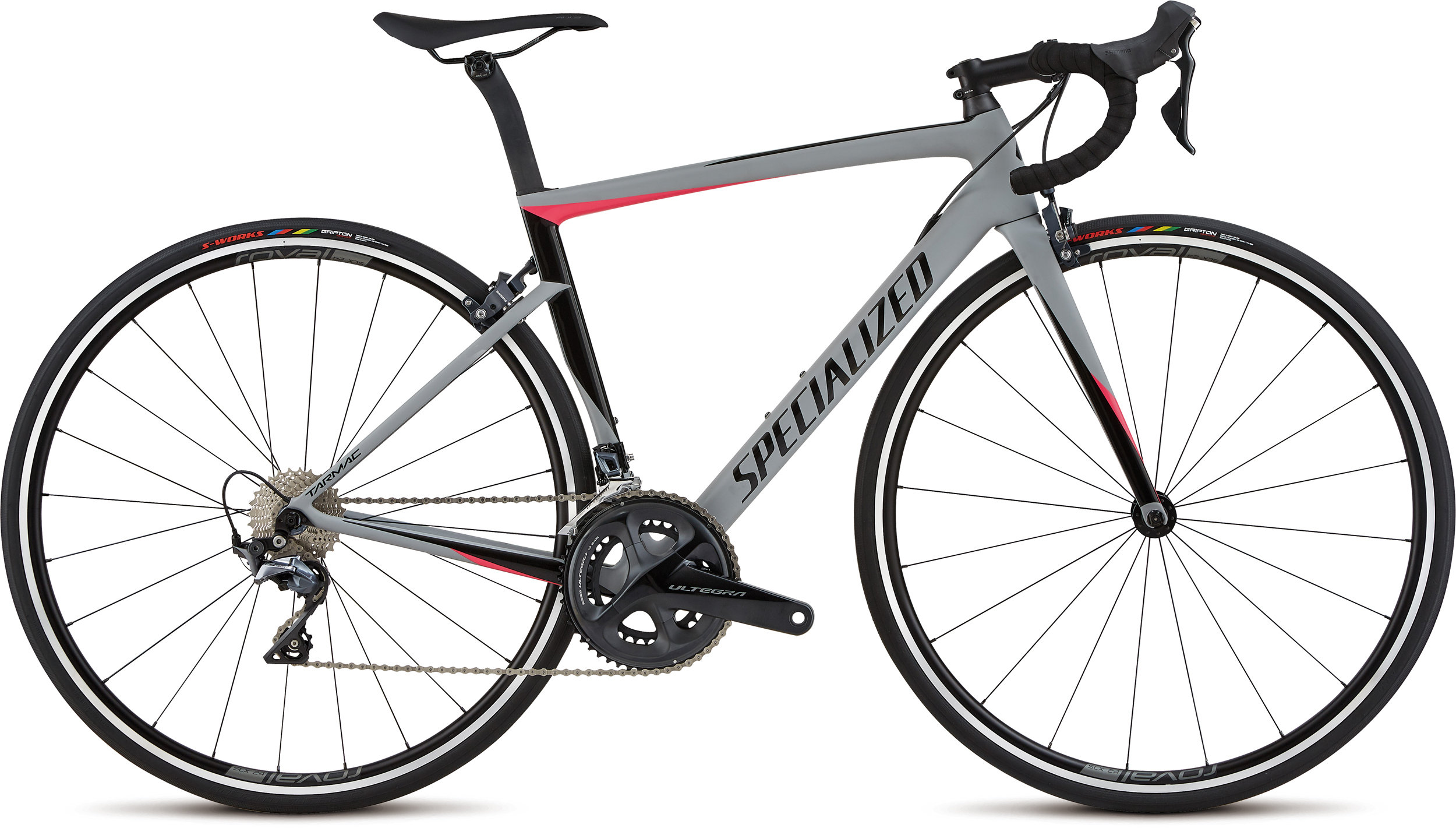 Specialized Women´s Tarmac Expert Satin / Gloss / Cool Gray /  Acid Pink / Black 44 - Bike Maniac