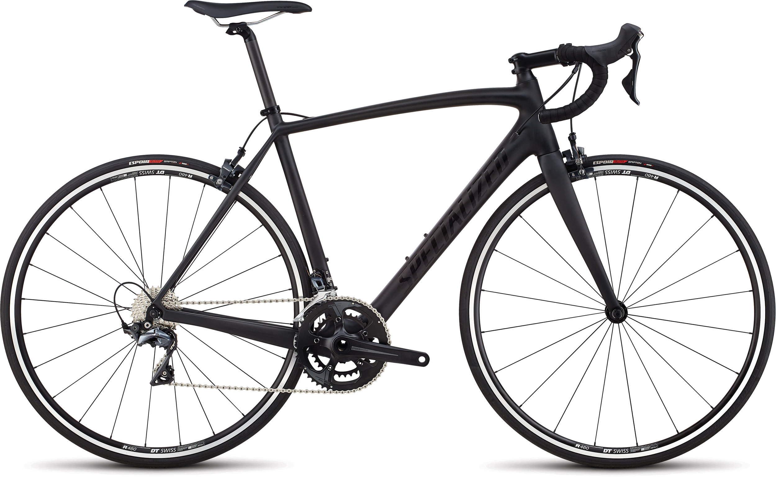 Specialized Men´s Tarmac Elite Carbon/Gloss Tarmac Black/Clean 56 - Alpha Bikes