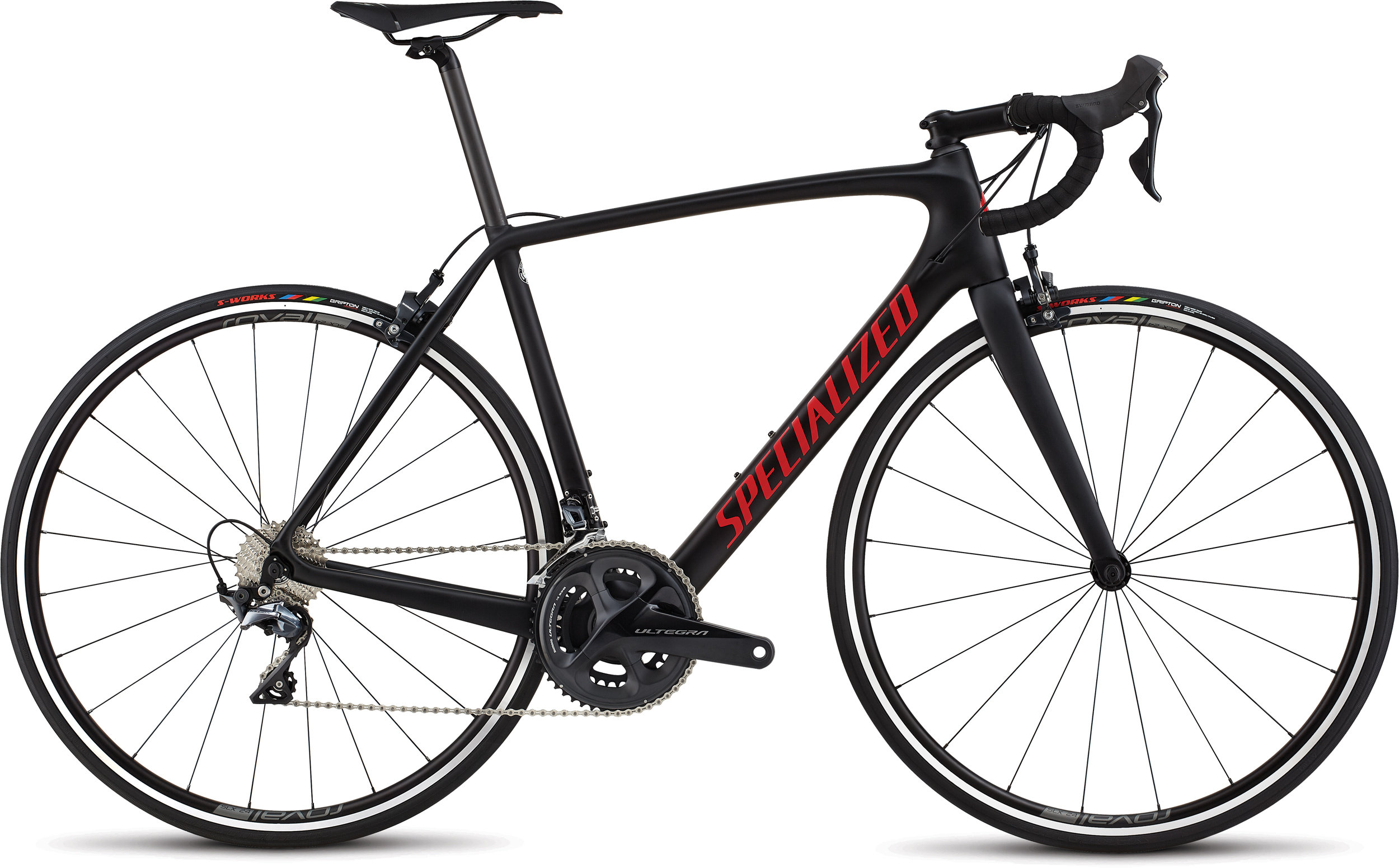 Specialized Men´s Tarmac Comp Black/Gloss Flo Red/Clean 56 - Alpha Bikes