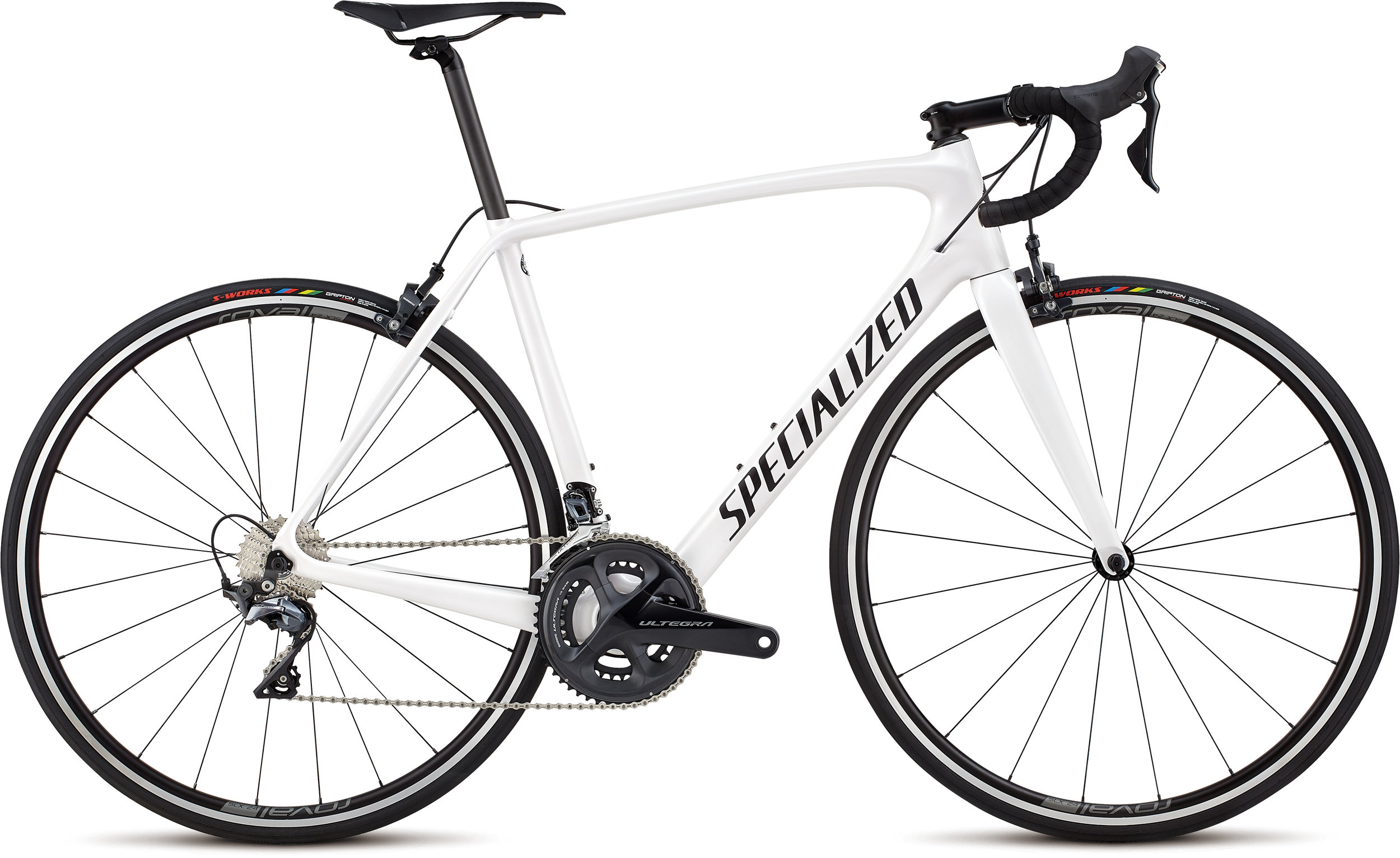Specialized Men´s Tarmac Comp Metallic White Silver/Satin Black/Clean 56 - Alpha Bikes