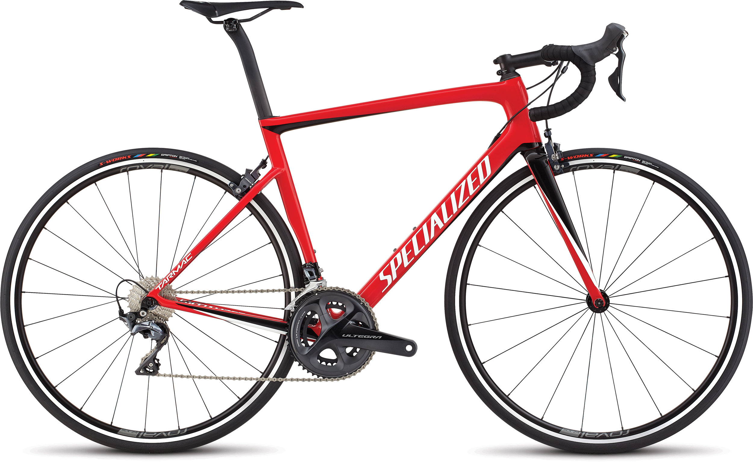 Specialized Men´s Tarmac SL6 Expert Flo Red/Metallic White Silver/Tarmac Black 56 - Alpha Bikes