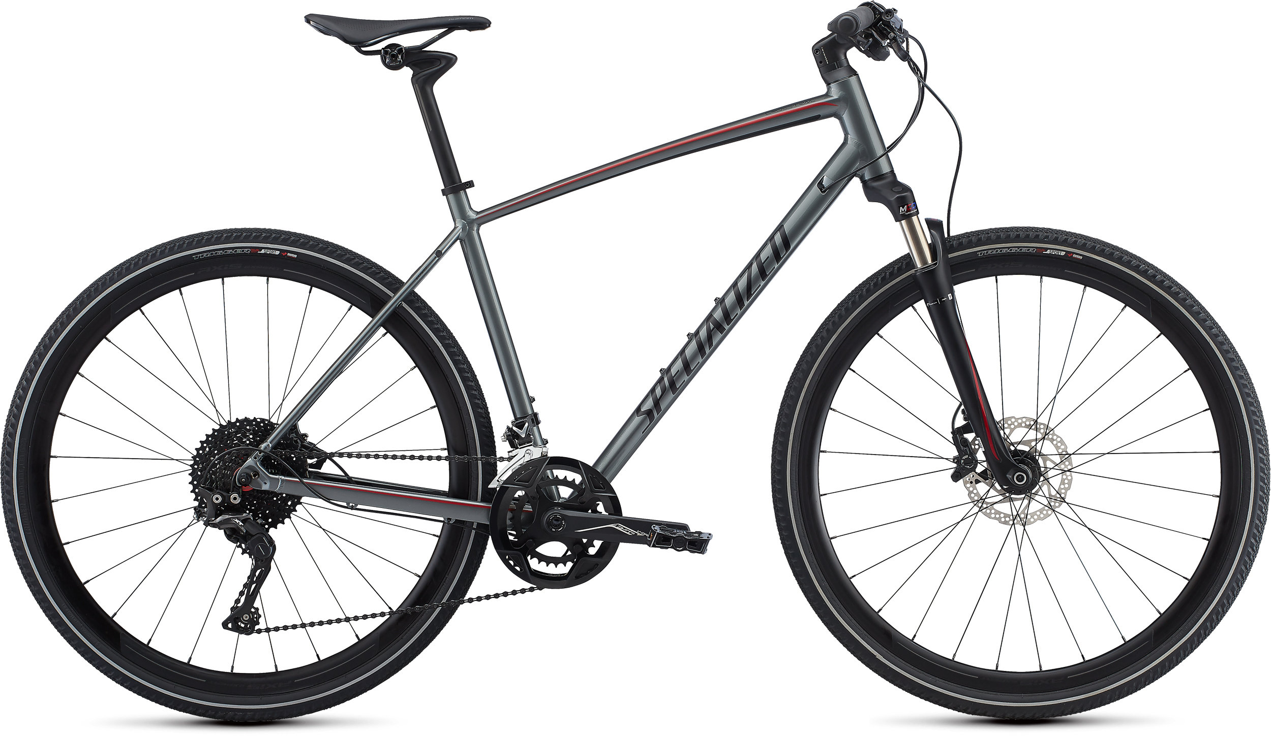 Specialized CrossTrail Expert INT Charcoal/Candy Red/Black Reflective S - Bike Maniac