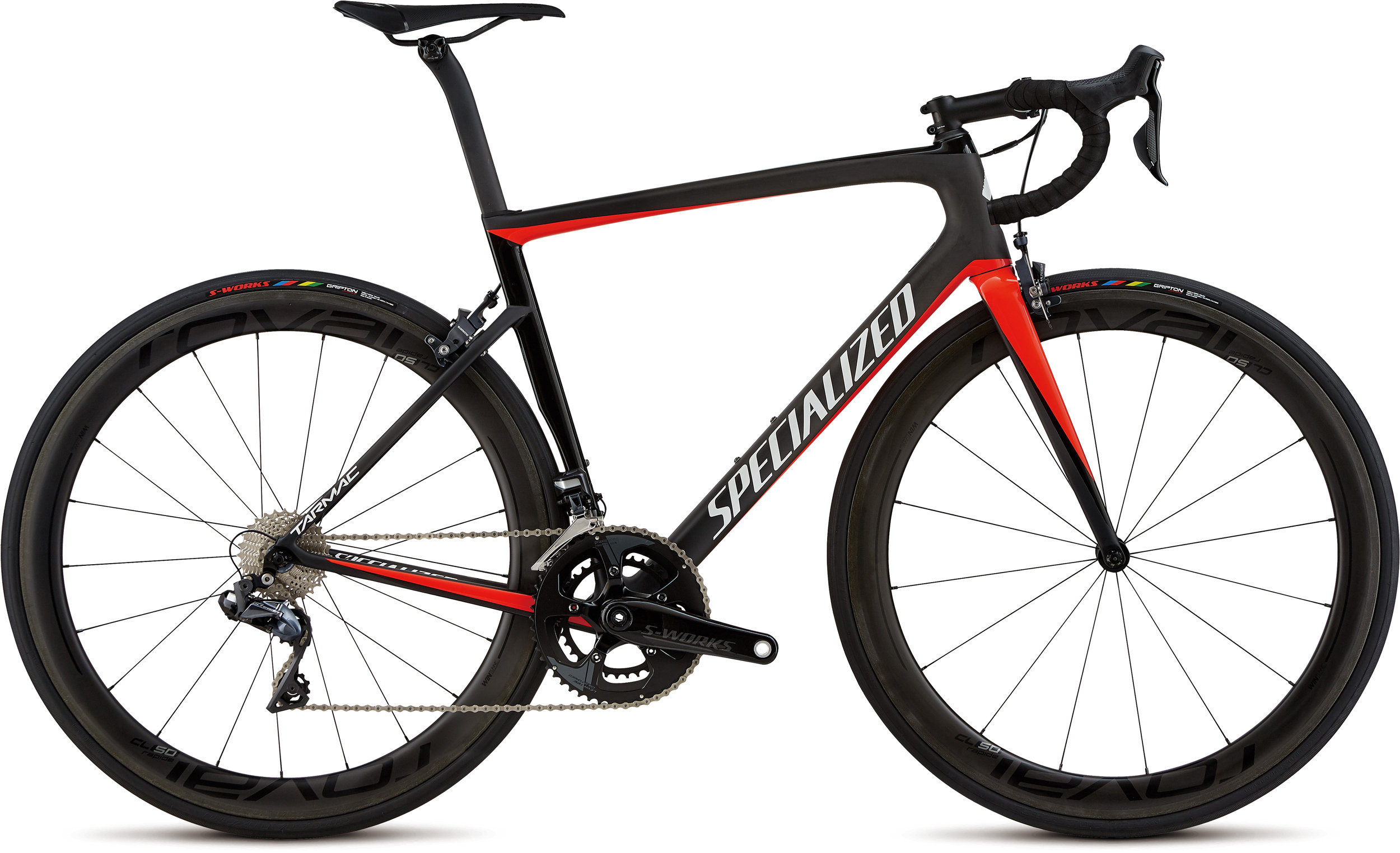 Specialized Men´s Tarmac Pro Carbon/Gloss Rkt Red/Tarmac Blk/Metallic Wht Slver 56 - Alpha Bikes