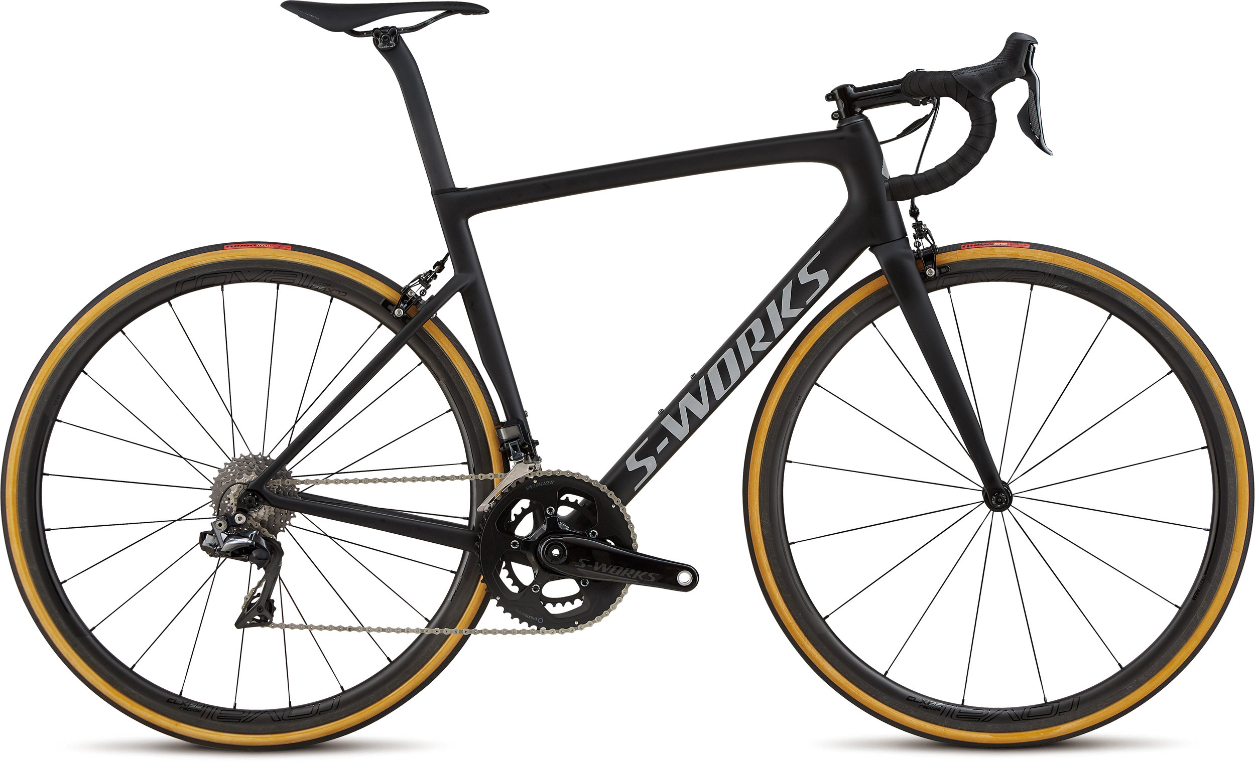 Specialized Men´s S-Works Tarmac Ultralight Ultralight Monocoat Black/Silver Reflective/Clean 56 - Alpha Bikes