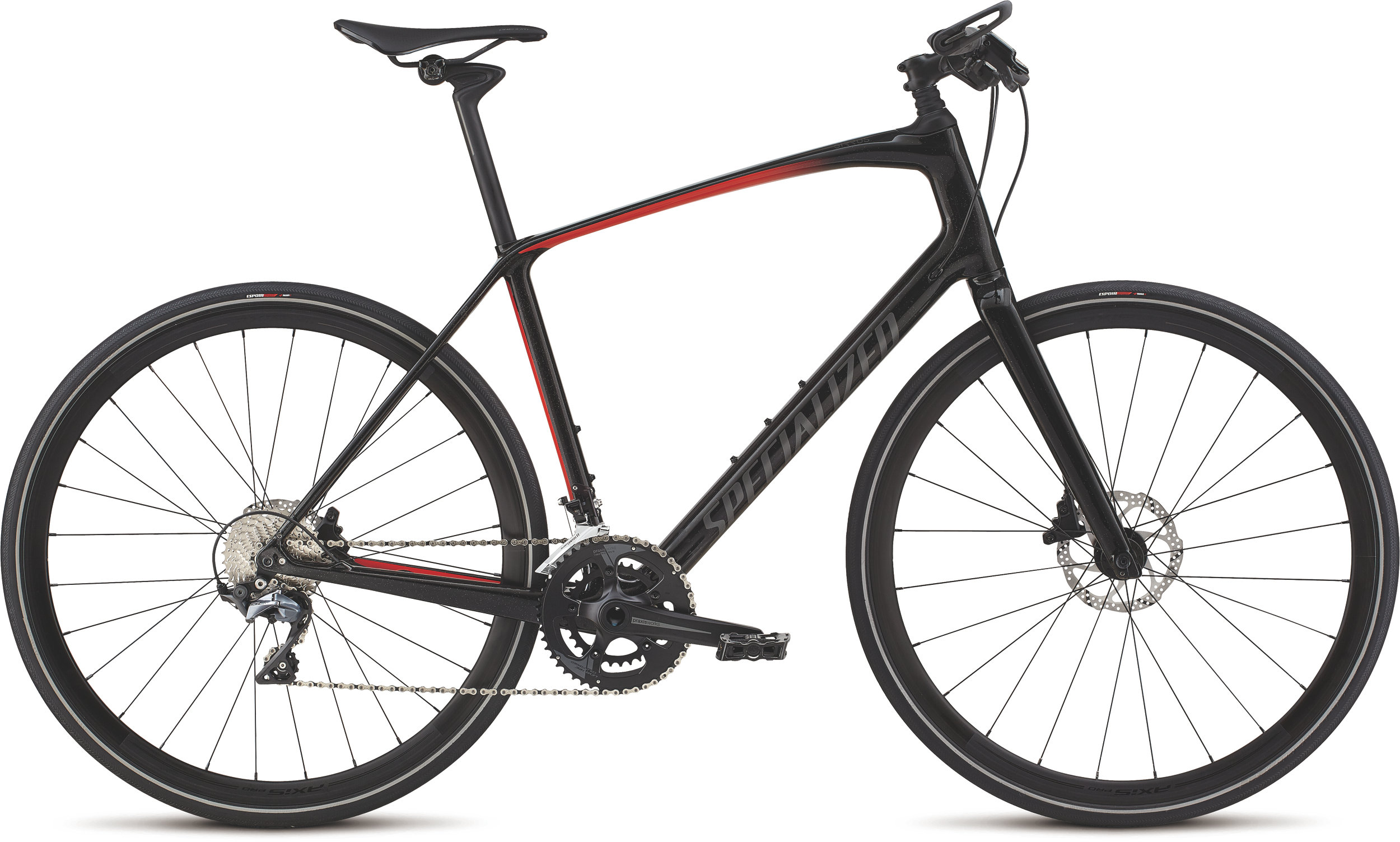 Specialized Men´s Sirrus Pro Carbon Cosmic Black Tint/Rocket Red/Black Reflective L - Alpha Bikes