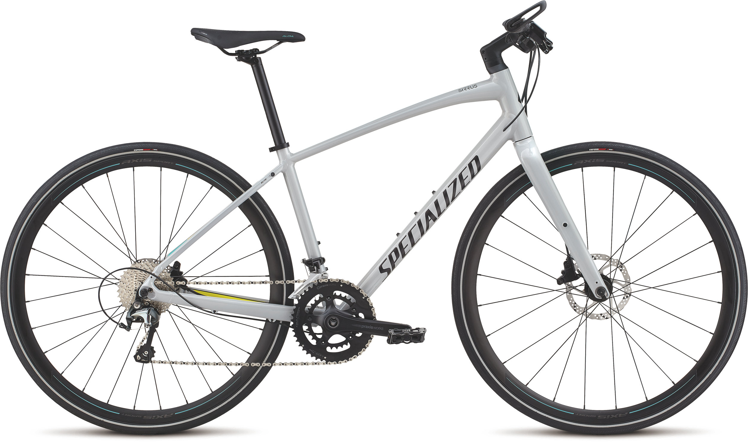 Specialized Women´s Sirrus Elite Alloy Filthy White/Limon/Acid Mint M - Alpha Bikes
