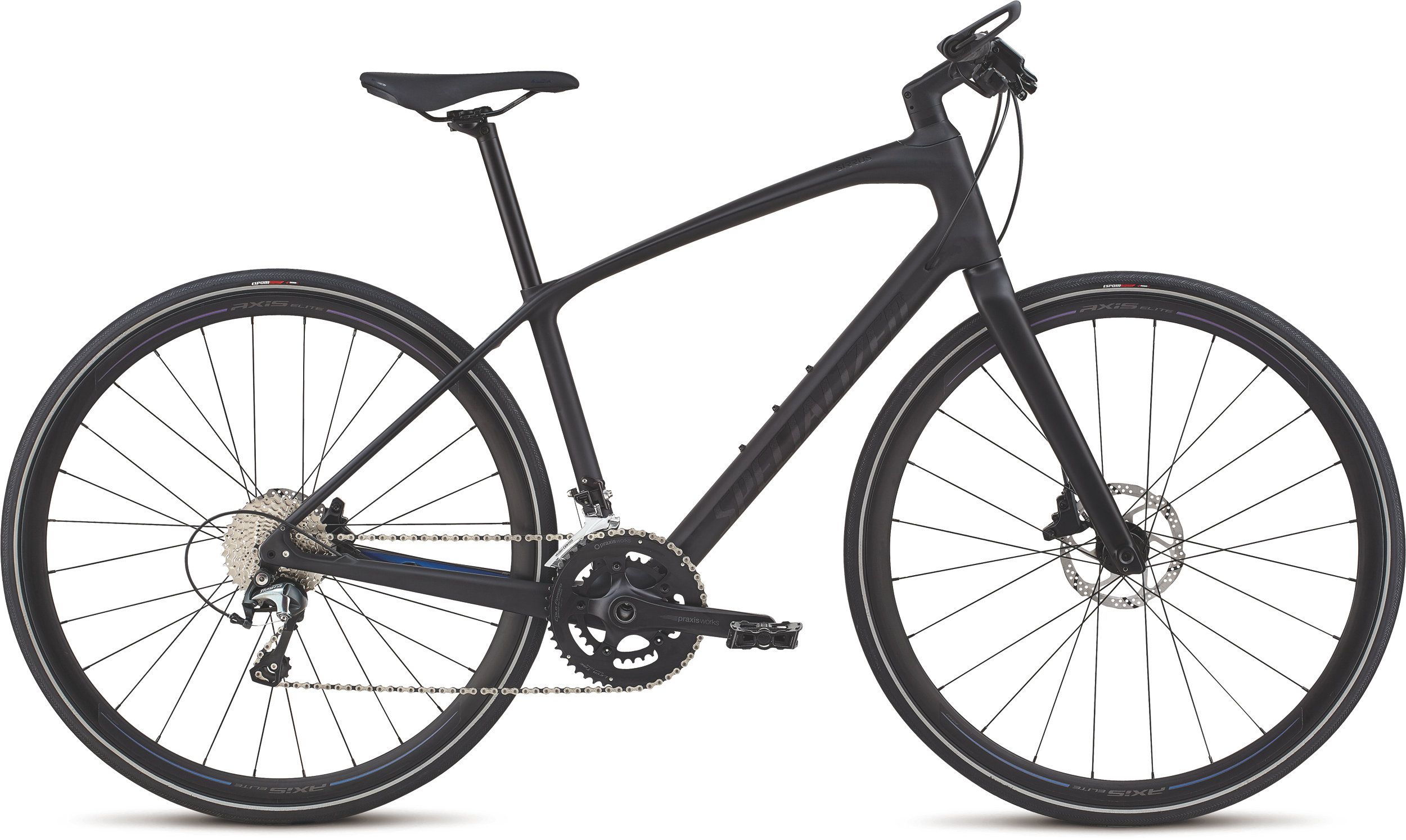 Specialized Women´s Sirrus Elite Carbon Tarmac Black/Black/Chameleon M - Alpha Bikes