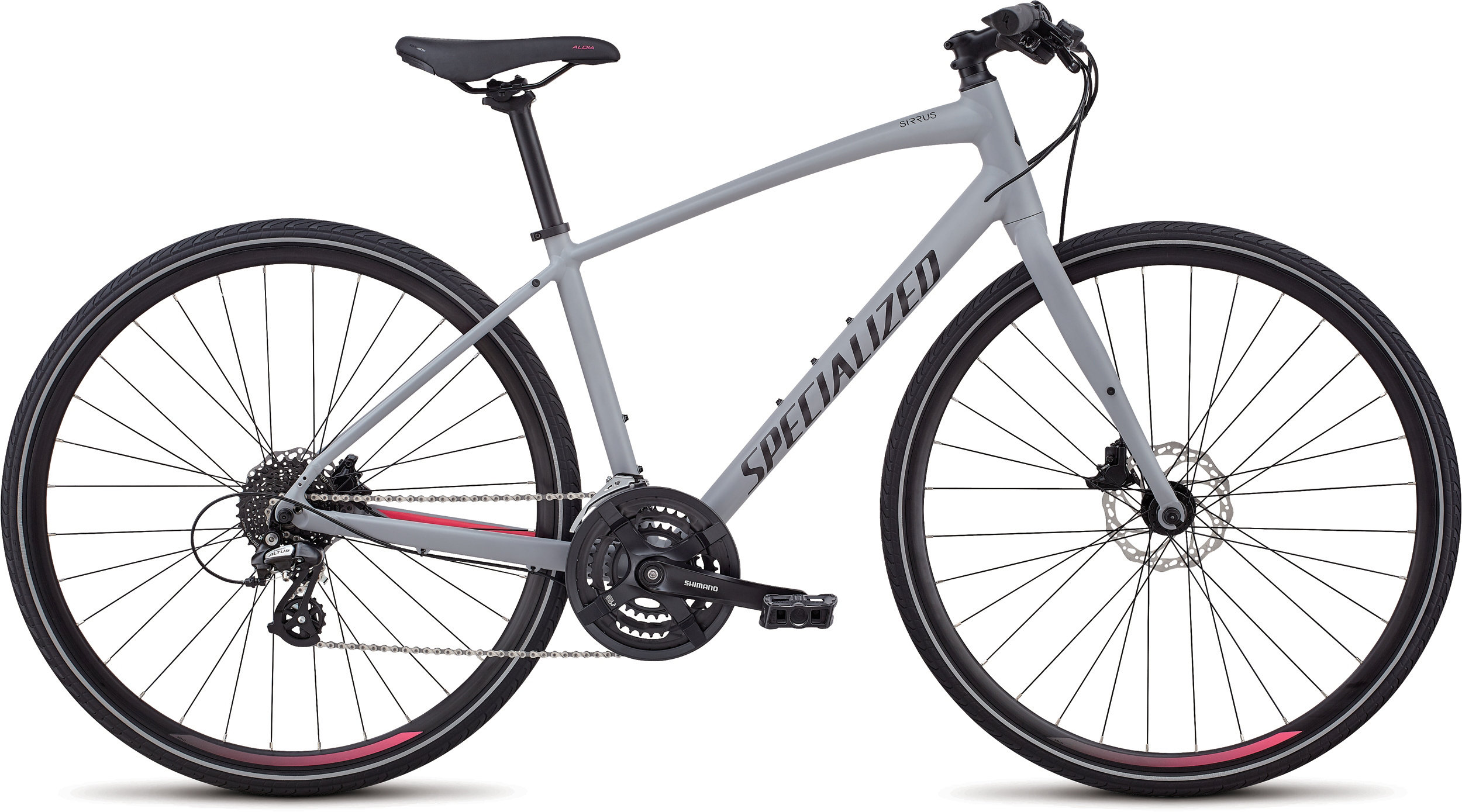 Specialized Women´s Sirrus Disc Cool Gray/Acid Pink/Acid Red M - Alpha Bikes