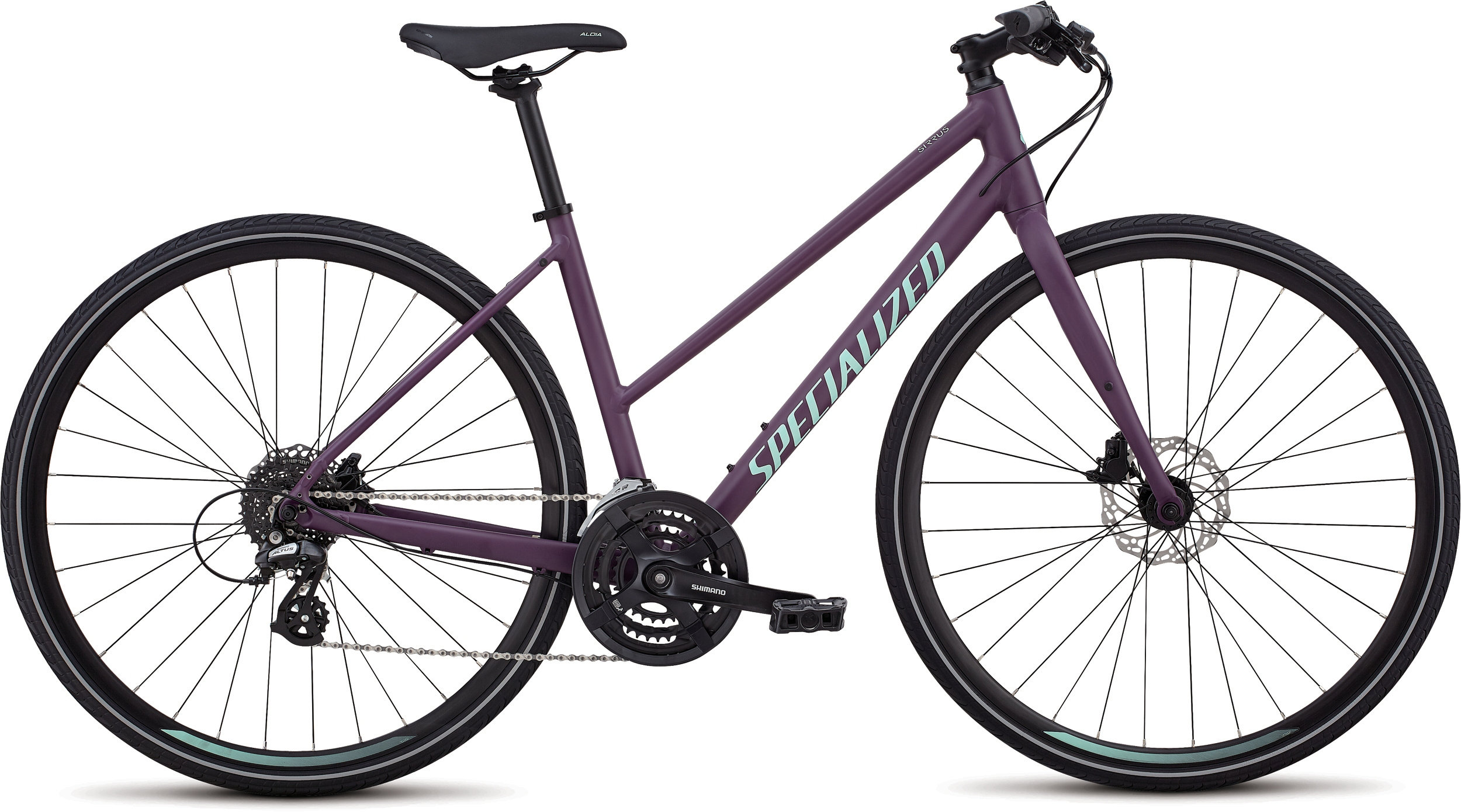 Specialized Women´s Sirrus Disc - Step-Through Cast Berry/Mint M - Alpha Bikes