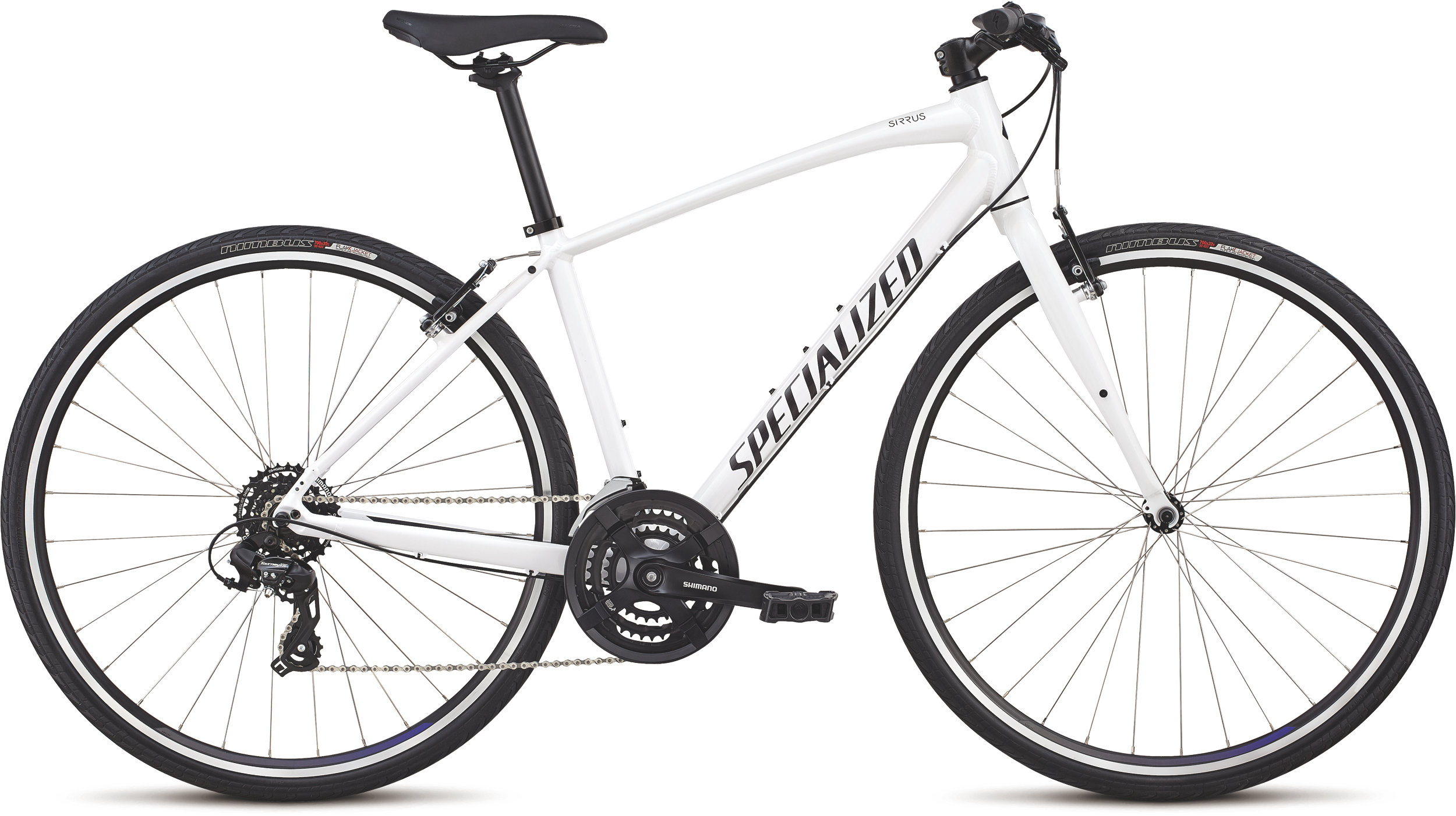 Specialized Women´s Sirrus - V-Brake Metallic White/Tarmac Black/Floral M - Alpha Bikes