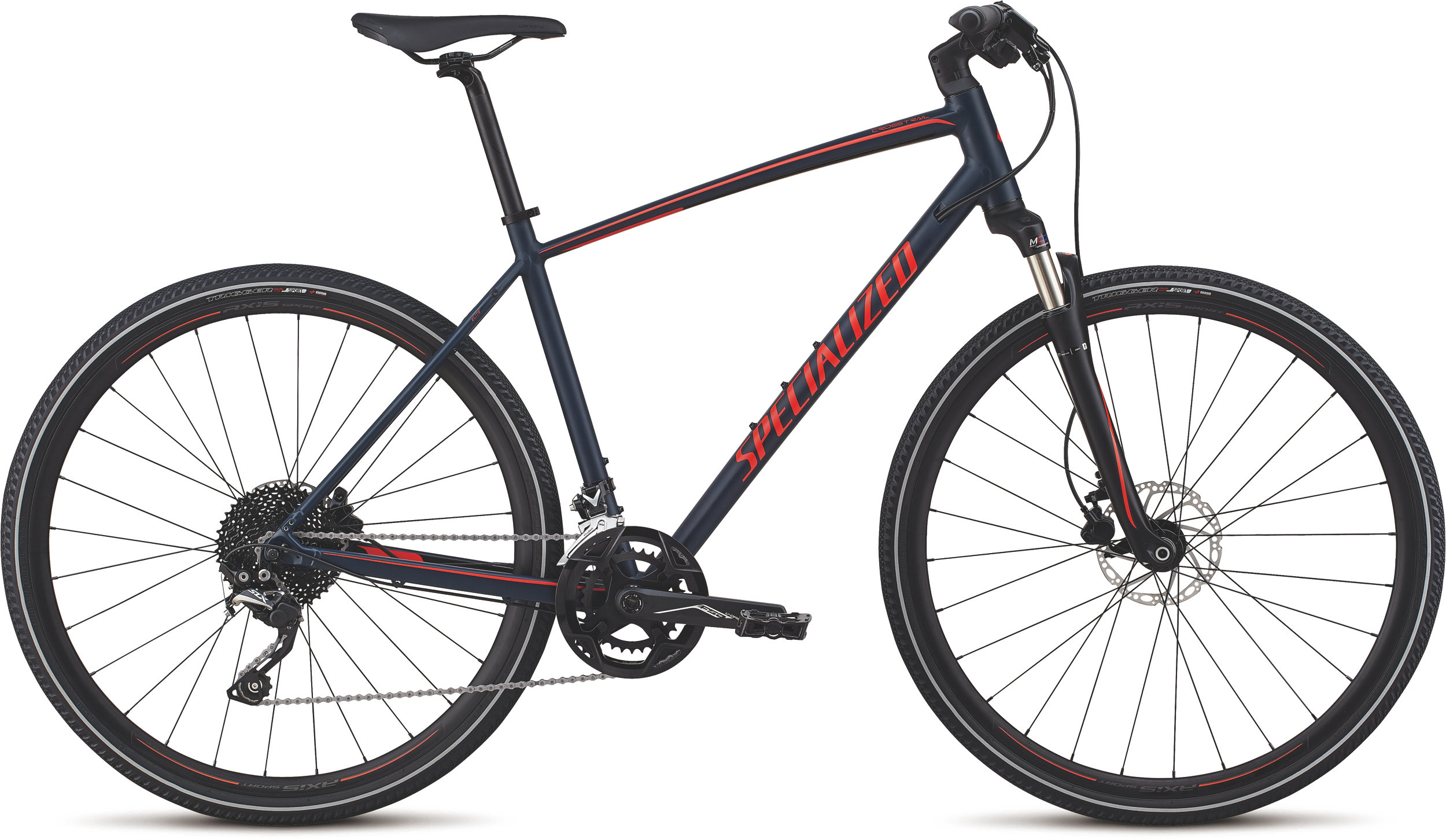 Specialized CrossTrail Elite Alloy Cast Blue/Rocket Red/Rocket Red Reflective L - Alpha Bikes