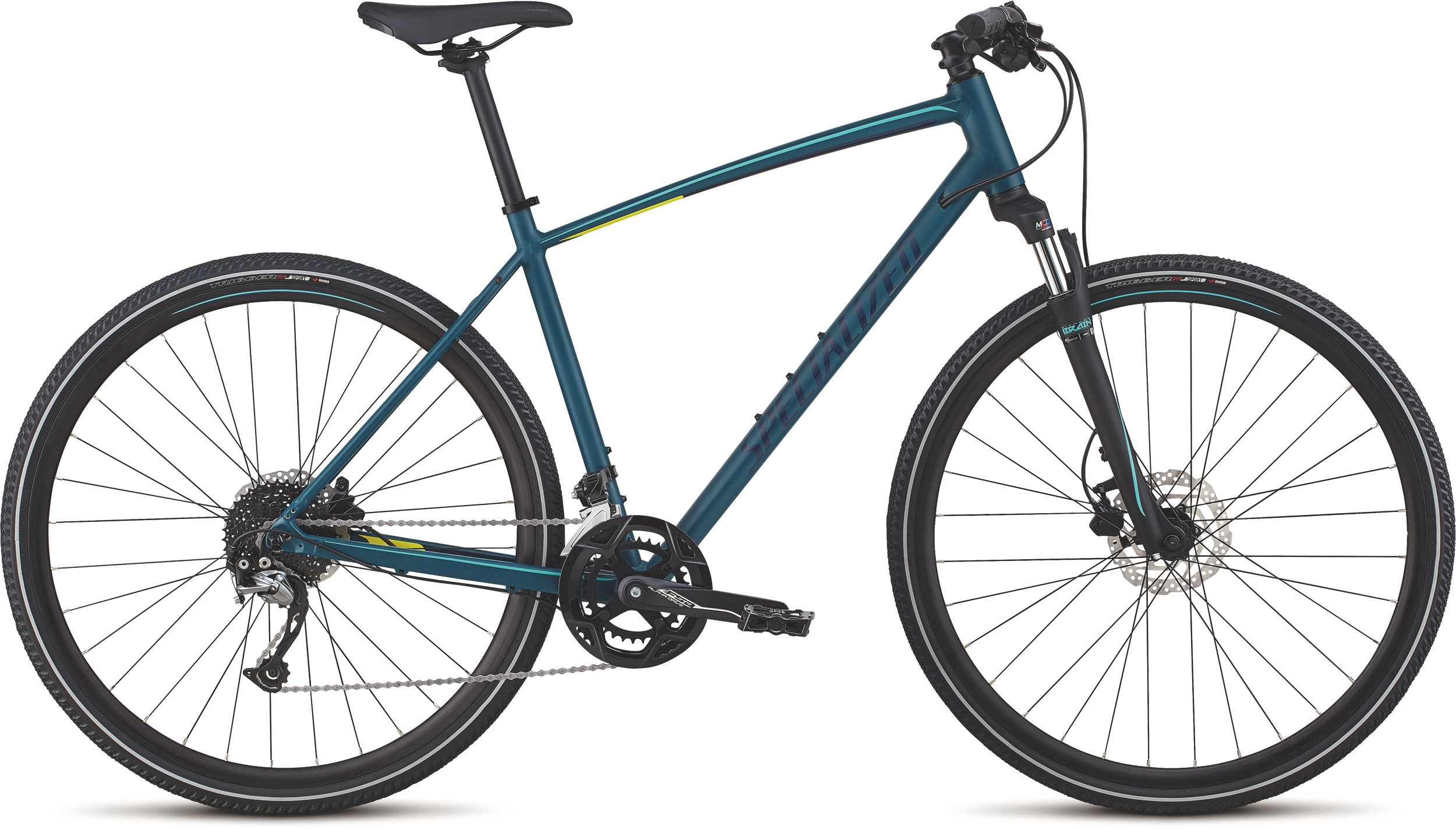 Specialized CrossTrail Sport Tropical Teal/Acid Mint/Cast Blue Reflective S - Alpha Bikes
