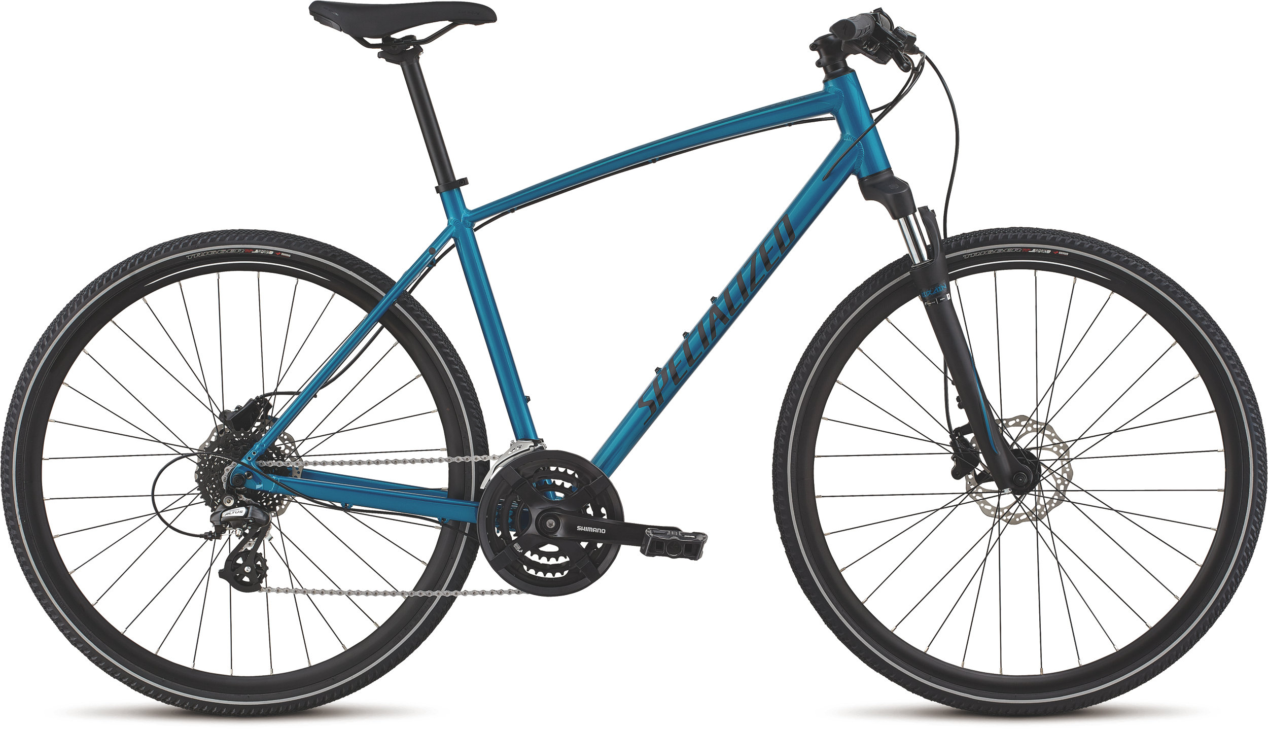 Specialized CrossTrail - Hydraulic Disc Teal Tint/Black/Flake Silver Reflective L - Alpha Bikes