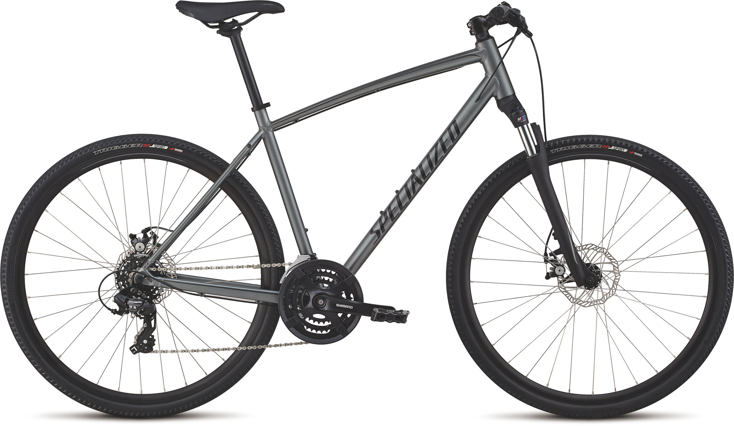 Specialized CrossTrail - Mechanical Disc Charcoal/Gloss Black/Black Reflective L - Alpha Bikes