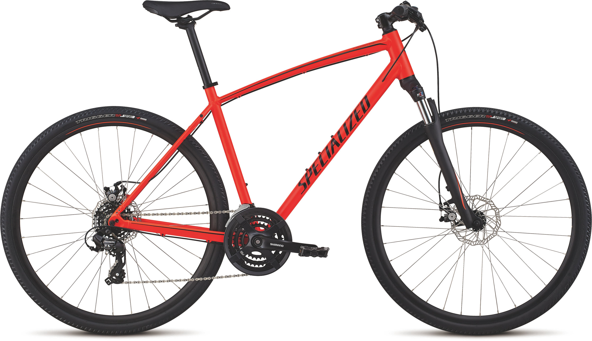 Specialized CrossTrail - Mechanical Disc Rocket Red/Limon/Black Reflective L - Alpha Bikes