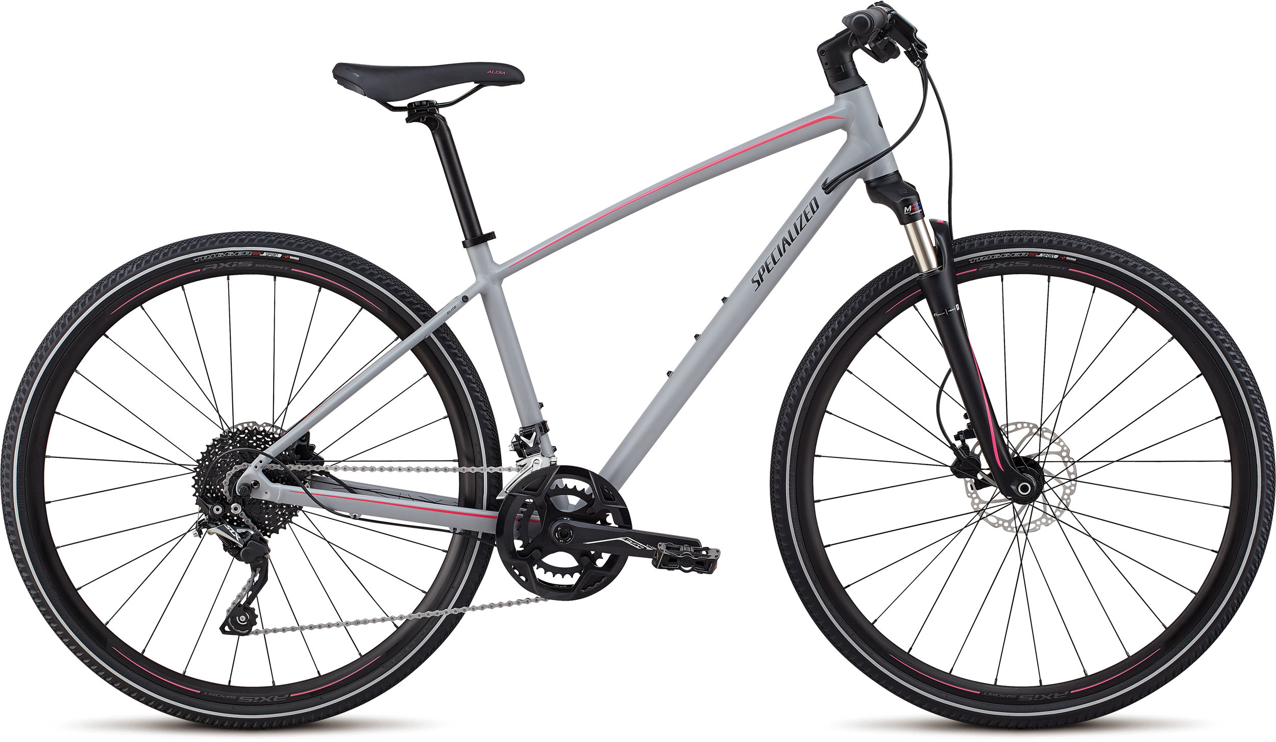 Specialized Ariel Elite Cool Gray/Acid Pink/Tarmac Black Reflective M - Alpha Bikes