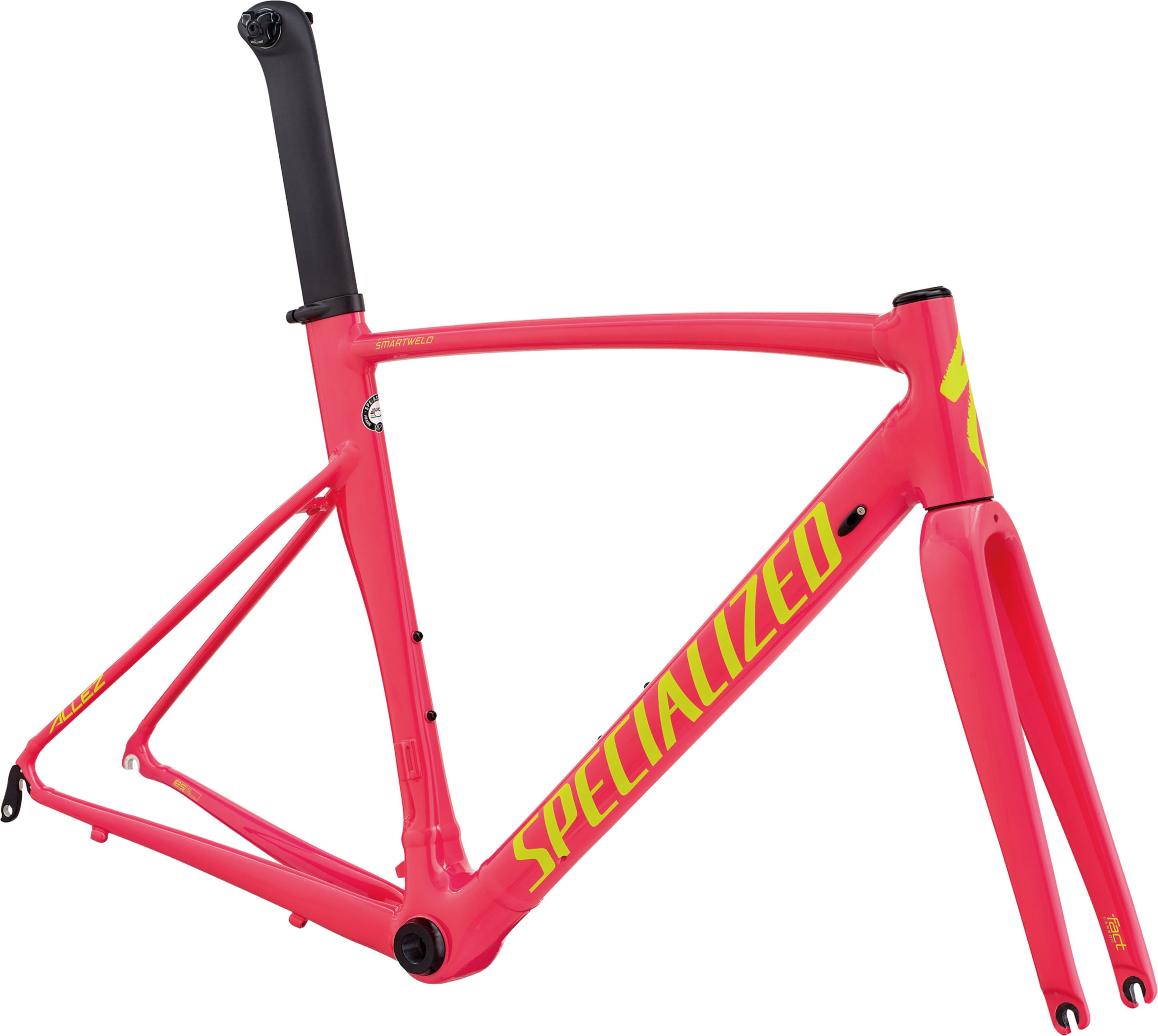Specialized Allez Sprint DSW Frameset Limited Edition I Acid Pink / Team Yellow / Clean 56 - Alpha Bikes